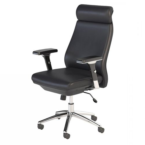 BUSH BUSINESS FURNITURE METROPOLIS HIGH BACK LEATHER EXECUTIVE OFFICE CHAIR. FREE SHIPPING. </b></font>