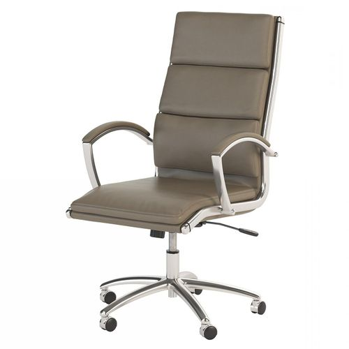 BUSH BUSINESS FURNITURE MODELO HIGH BACK LEATHER EXECUTIVE OFFICE CHAIR #EH-CH1701WGL-03. FREE SHIPPING: