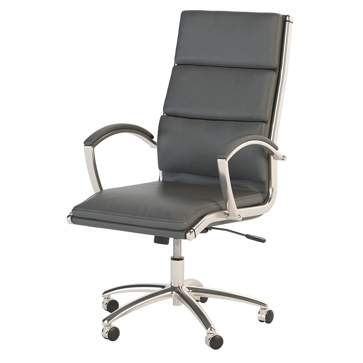 BUSH BUSINESS FURNITURE MODELO HIGH BACK LEATHER EXECUTIVE OFFICE CHAIR #EH-CH1701DGL-03. FREE SHIPPING: