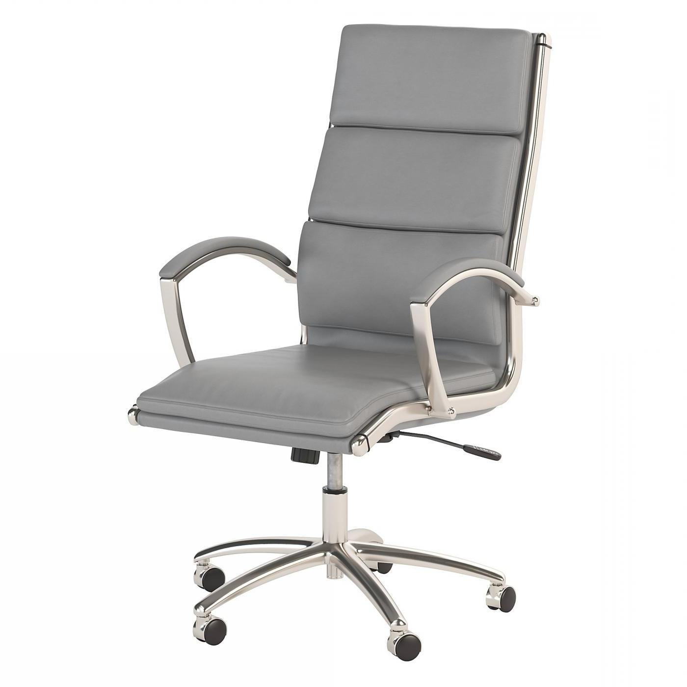 BUSH BUSINESS FURNITURE MODELO HIGH BACK LEATHER EXECUTIVE OFFICE CHAIR #EH-CH1701LGL-03. FREE SHIPPING: