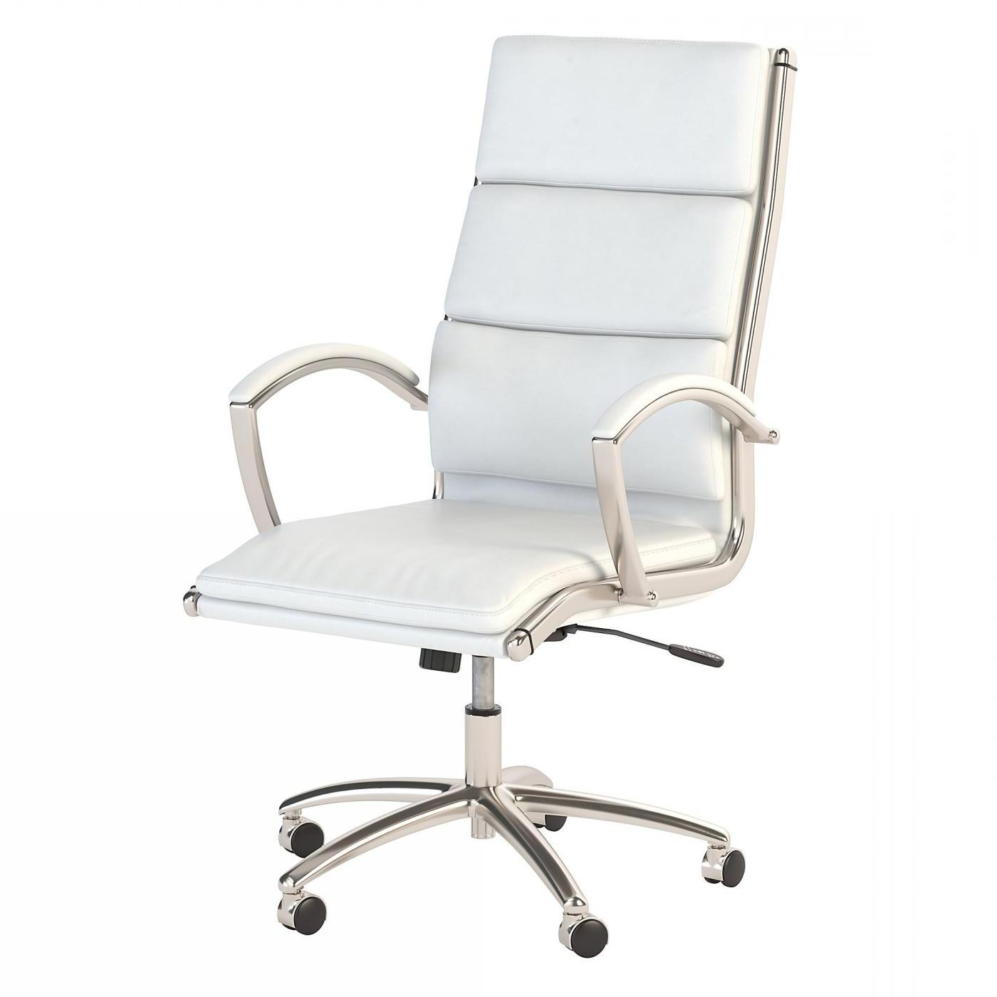 BUSH BUSINESS FURNITURE MODELO HIGH BACK LEATHER EXECUTIVE OFFICE CHAIR #EH-CH1701WHL-03. FREE SHIPPING:  SALE DEDUCT 10% MORE ENTER '10percent' IN COUPON CODE BOX WHILE CHECKING OUT.