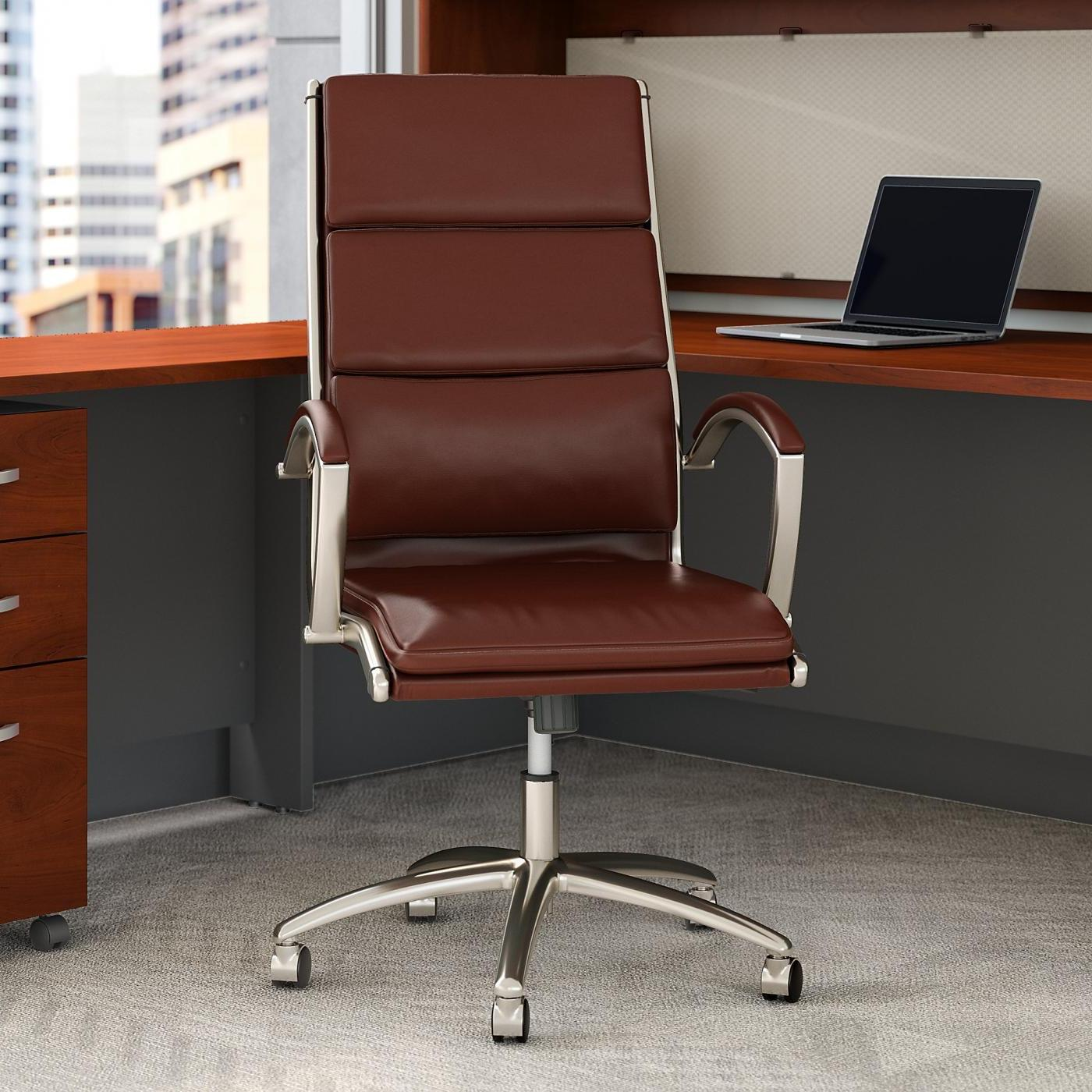Office Furniture Free Shipping: BBF Modelo High Back Leather Executive Office Chair EH