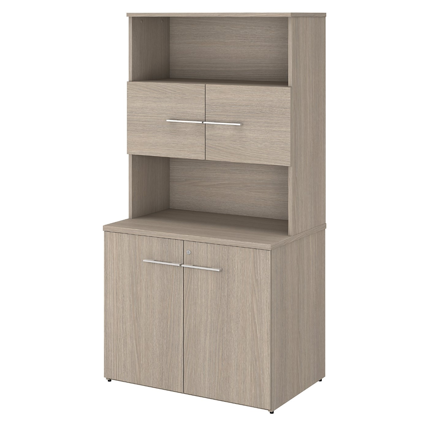 BUSH BUSINESS FURNITURE OFFICE 500 36W TALL STORAGE CABINET WITH DOORS AND SHELVES. FREE SHIPPING