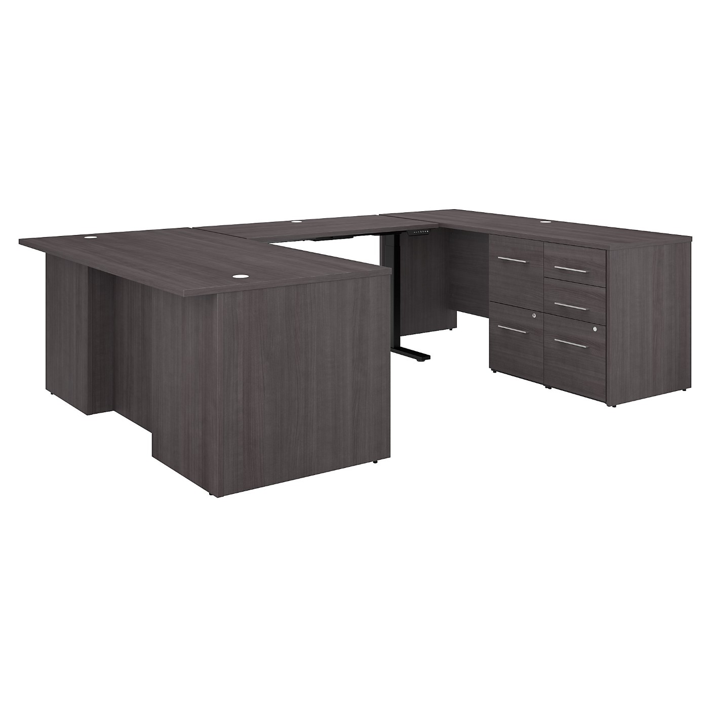 BUSH BUSINESS FURNITURE OFFICE 500 72W HEIGHT ADJUSTABLE U SHAPED EXECUTIVE DESK WITH DRAWERS. FREE SHIPPING