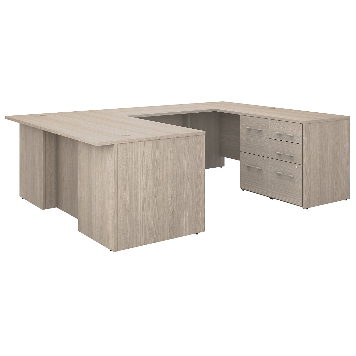 BUSH BUSINESS FURNITURE OFFICE 500 72W U SHAPED EXECUTIVE DESK WITH DRAWERS. FREE SHIPPING