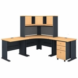 BUSH BUSINESS FURNITURE: OFFICE DESKS. COMPUTER DESKS. SECRETARY DESK. DESK WITH HUTCH. FREE SHIPPING 3-5 BIZ DAYS: