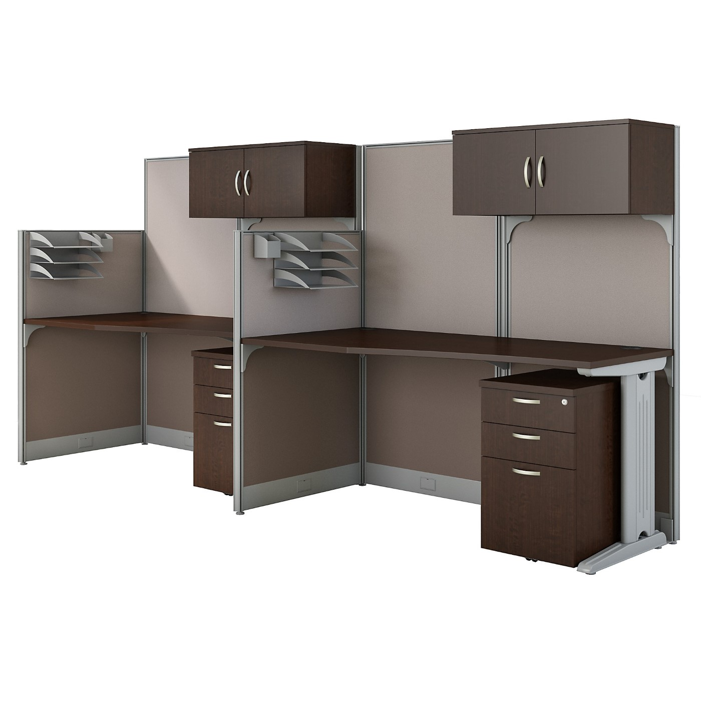 BUSH BUSINESS FURNITURE OFFICE IN AN HOUR 2 PERSON CUBICLE WORKSTATIONS. FREE SHIPPING SALE DEDUCT 10% MORE ENTER '10percent' IN COUPON CODE BOX WHILE CHECKING OUT. ENDS 5-31-20.