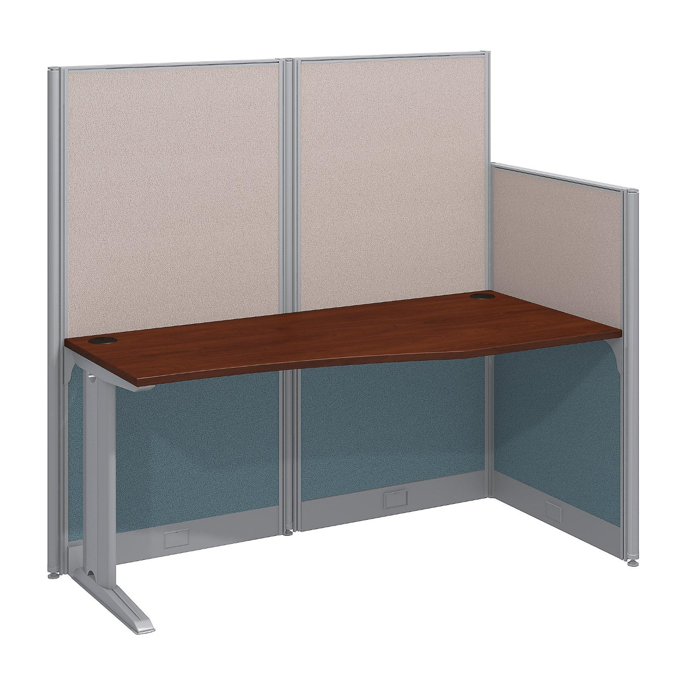 BUSH BUSINESS FURNITURE OFFICE IN AN HOUR 65W X 33D CUBICLE WORKSTATION. FREE SHIPPING.