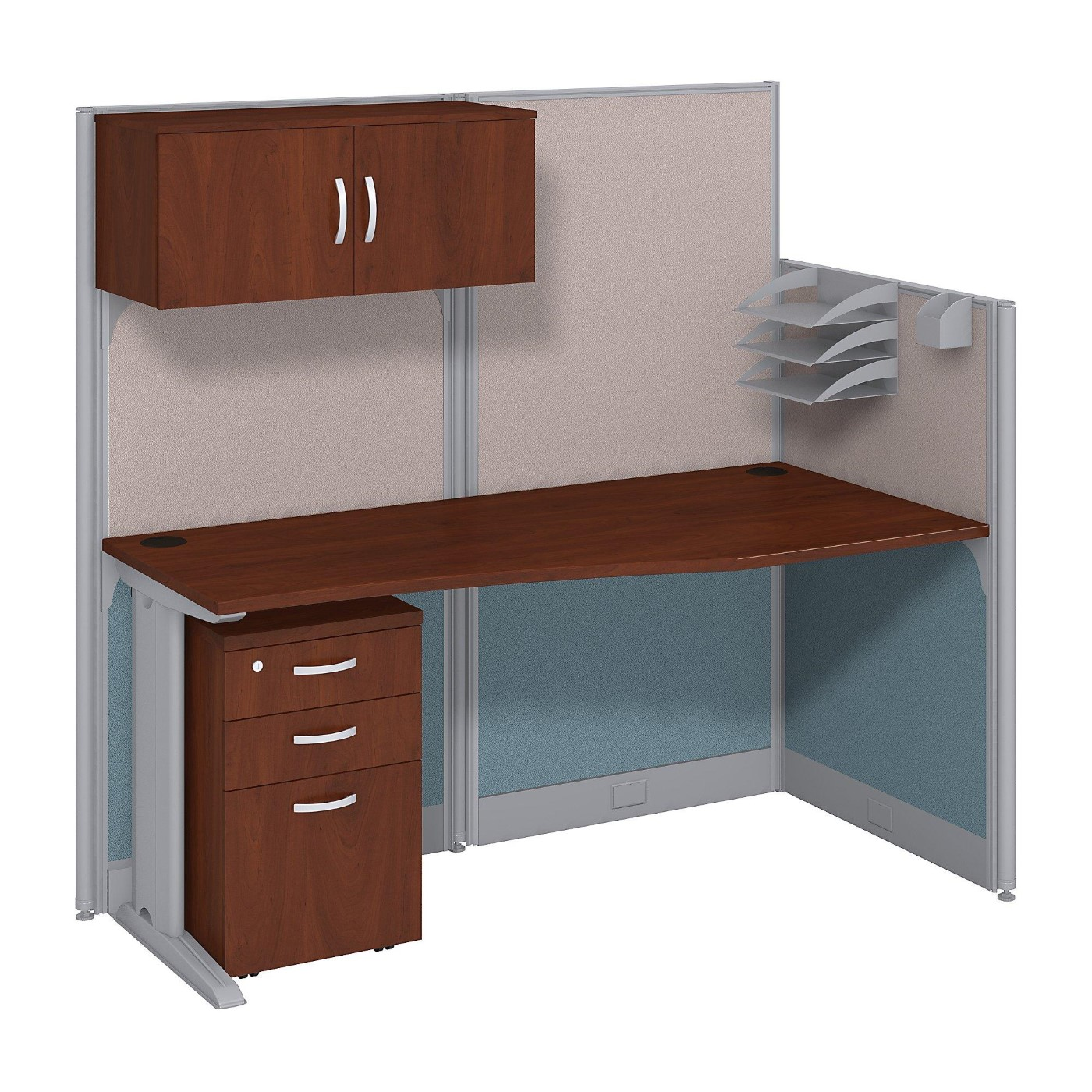 <font color=#c60><b>BUSH BUSINESS FURNITURE OFFICE IN AN HOUR 65W X 33D CUBICLE WORKSTATION WITH STORAGE. FREE SHIPPING</font></b></font></b>
