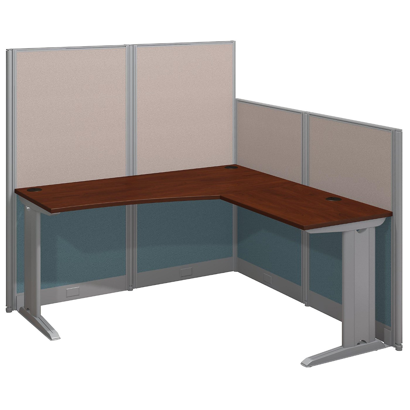 <font color=#c60><b>BUSH BUSINESS FURNITURE OFFICE IN AN HOUR 65W X 65D L SHAPED CUBICLE WORKSTATION. FREE SHIPPING</font></b>