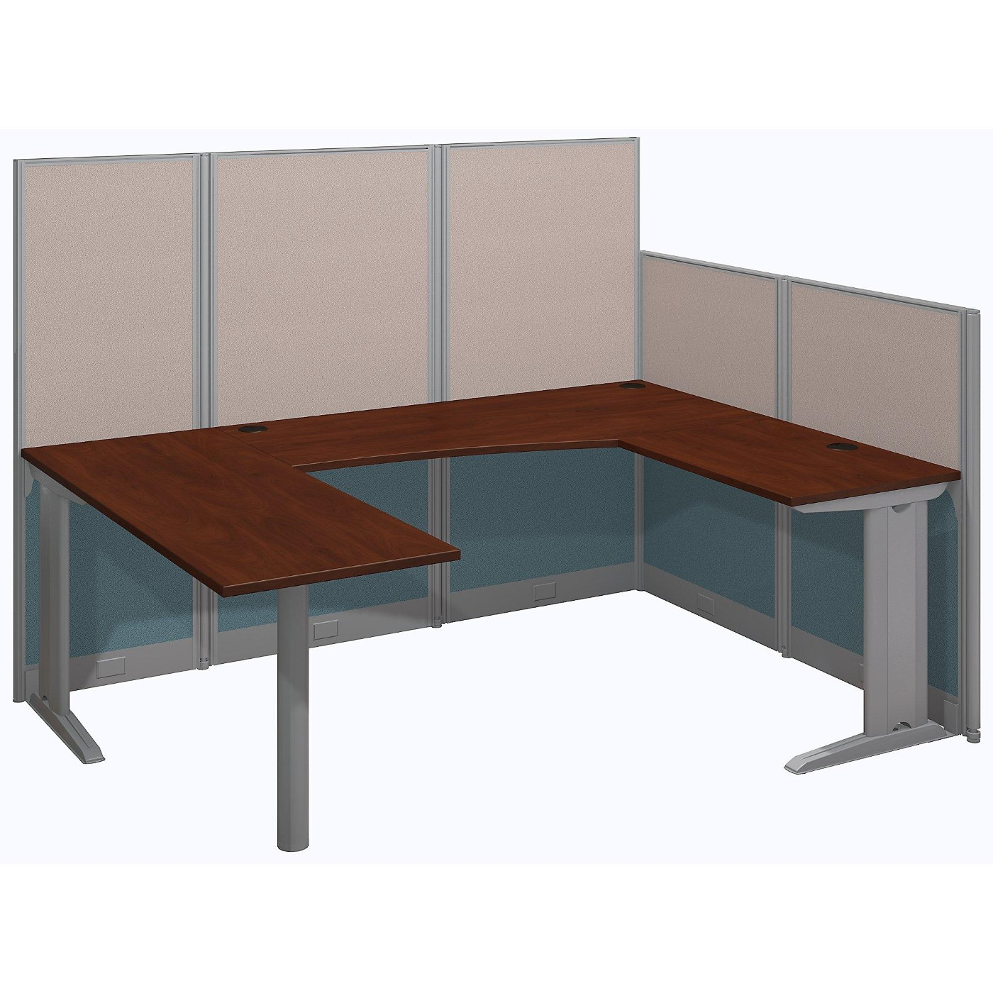 <font color=#c60><b>BUSH BUSINESS FURNITURE OFFICE IN AN HOUR 89W X 65D U SHAPED CUBICLE WORKSTATION. FREE SHIPPING</font></b></font></b>