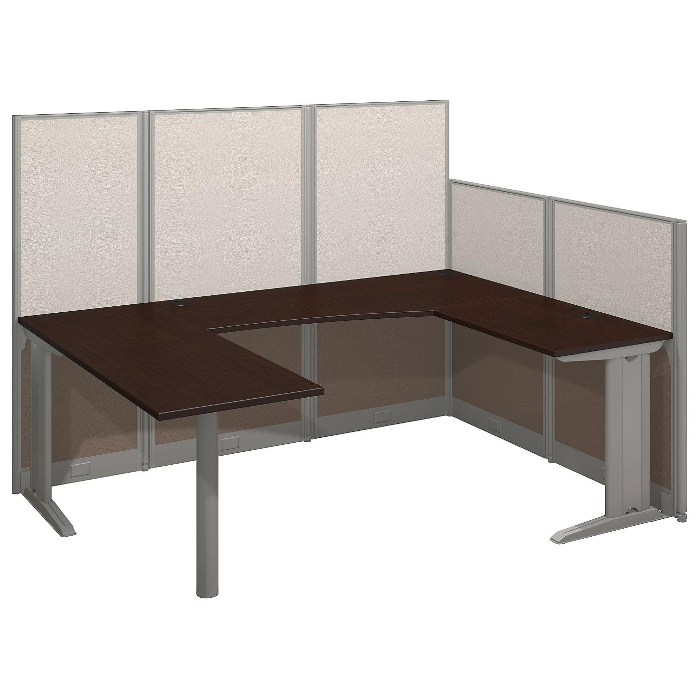 BUSH BUSINESS FURNITURE OFFICE IN AN HOUR 89W X 65D U SHAPED CUBICLE WORKSTATION. FREE SHIPPING.  SALE DEDUCT 10% MORE ENTER '10percent' IN COUPON CODE BOX WHILE CHECKING OUT. ENDS 5-31-20.