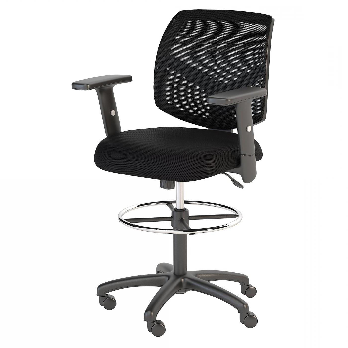 </b></font><b>BUSH BUSINESS FURNITURE PETITE MESH BACK DRAFTING CHAIR WITH CHROME FOOT RING. FREE SHIPPING</font>. </b></font></b>