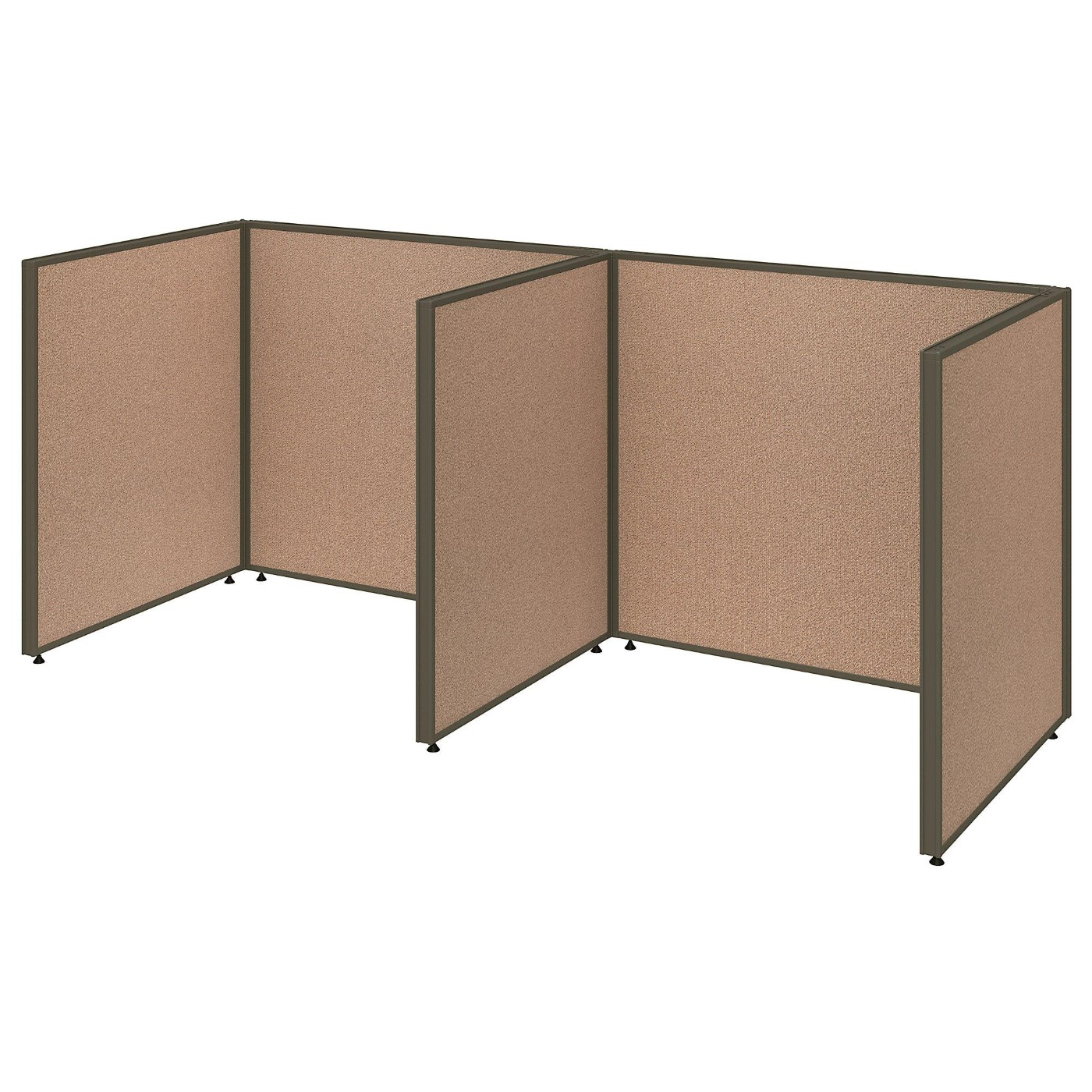 <font color=#c60><b>BUSH BUSINESS FURNITURE PROPANELS 2 PERSON OPEN CUBICLE OFFICE. FREE SHIPPING</font></b>