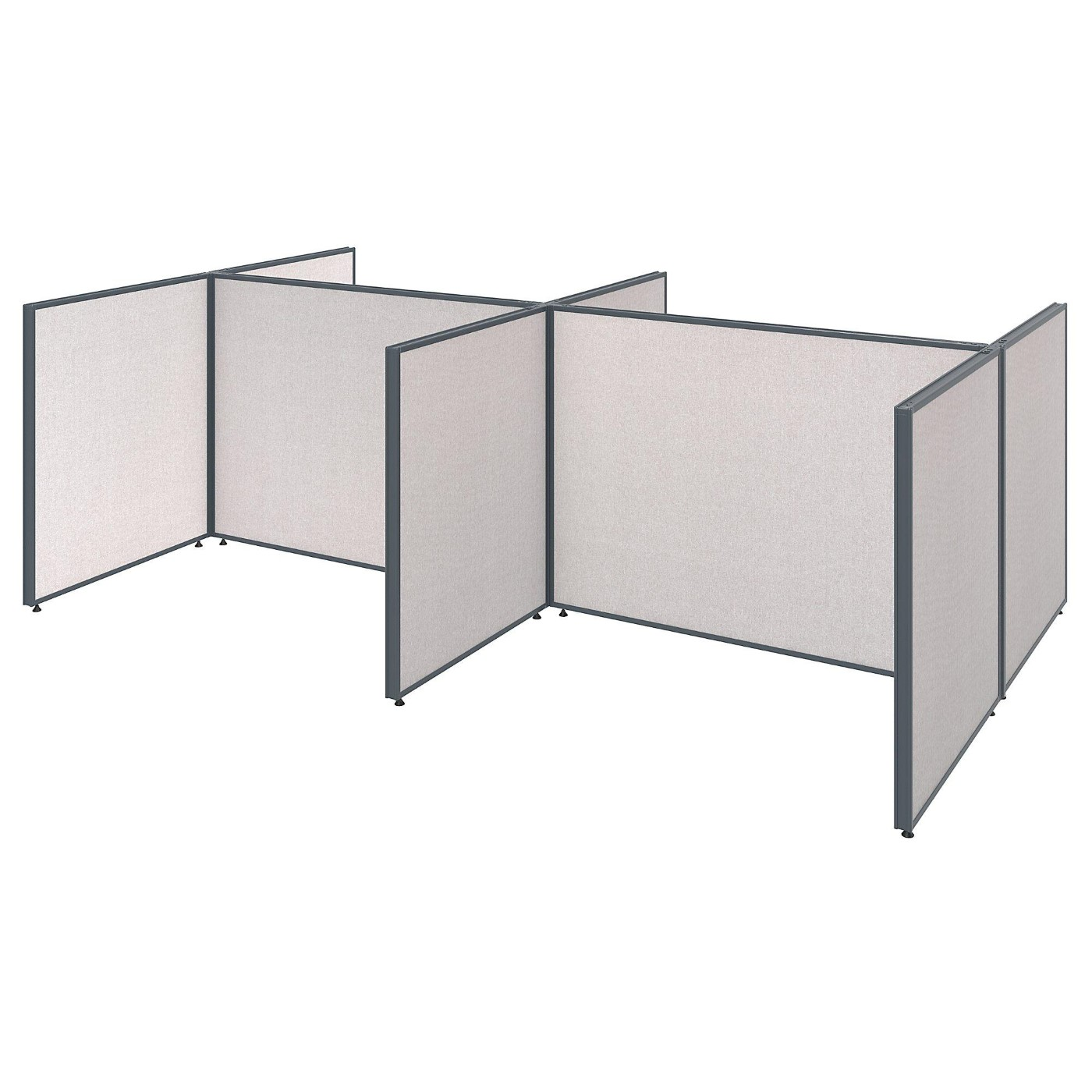 <font color=#c60><b>BUSH BUSINESS FURNITURE PROPANELS 4 PERSON OPEN CUBICLE CONFIGURATION. FREE SHIPPING</font></b>