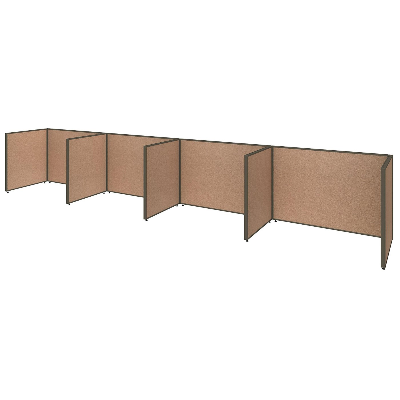 <font color=#c60><b>BUSH BUSINESS FURNITURE PROPANELS 4 PERSON OPEN CUBICLE OFFICE. FREE SHIPPING</font></b>