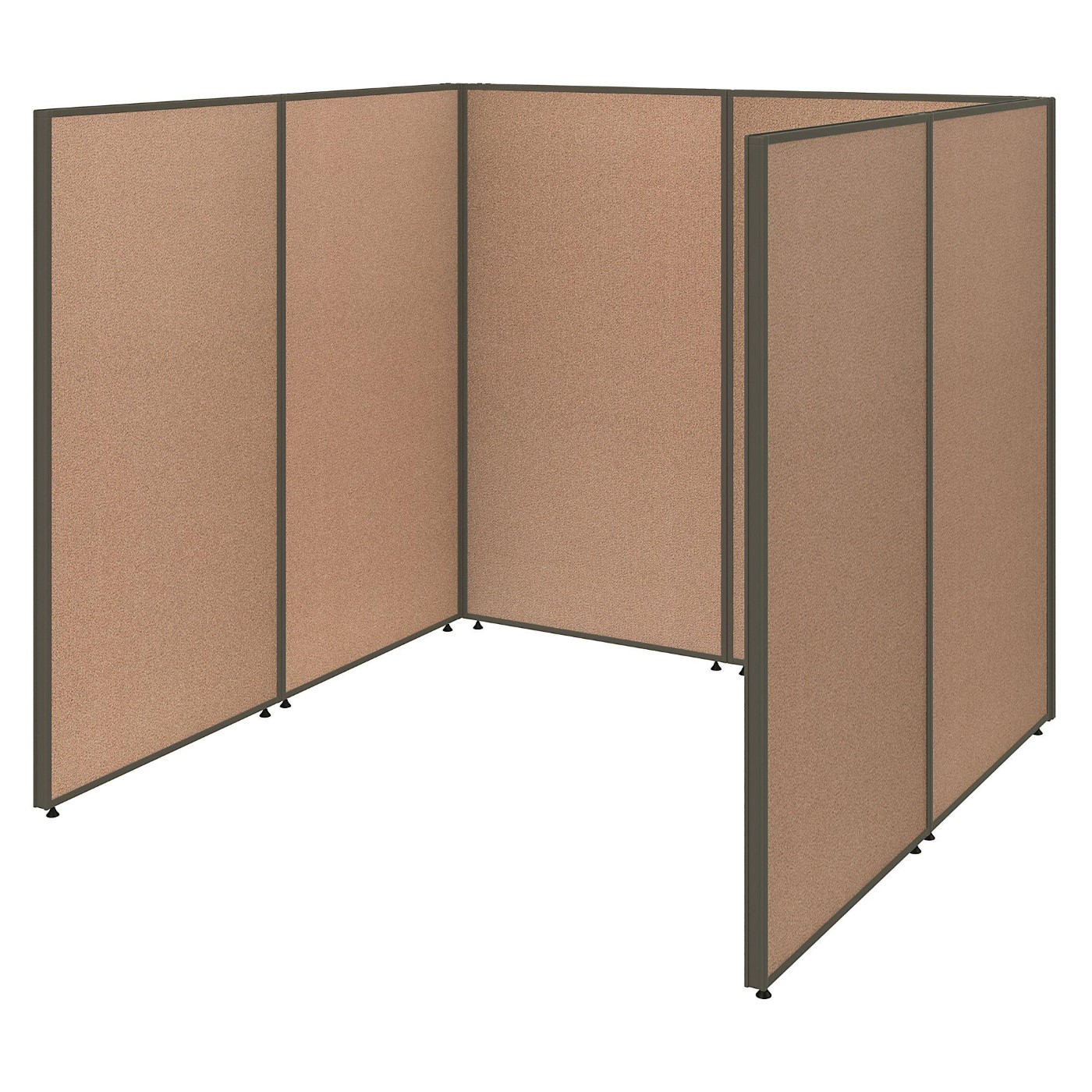 <font color=#c60><b>BUSH BUSINESS FURNITURE PROPANELS SINGLE OPEN CUBICLE OFFICE. FREE SHIPPING</font></b>
