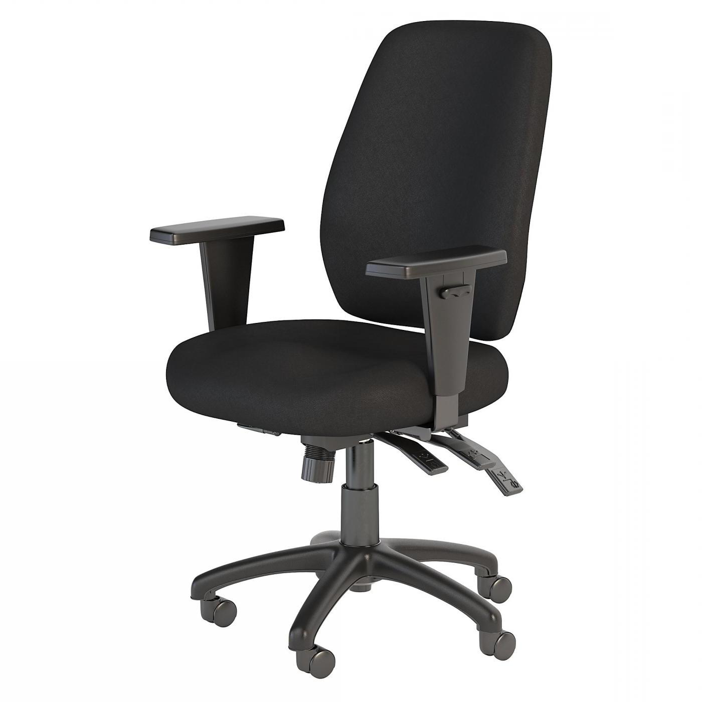 BUSH BUSINESS FURNITURE PROSPER HIGH BACK MULTIFUNCTION OFFICE CHAIR. FREE SHIPPING.  SALE DEDUCT 10% MORE ENTER '10percent' IN COUPON CODE BOX WHILE CHECKING OUT.