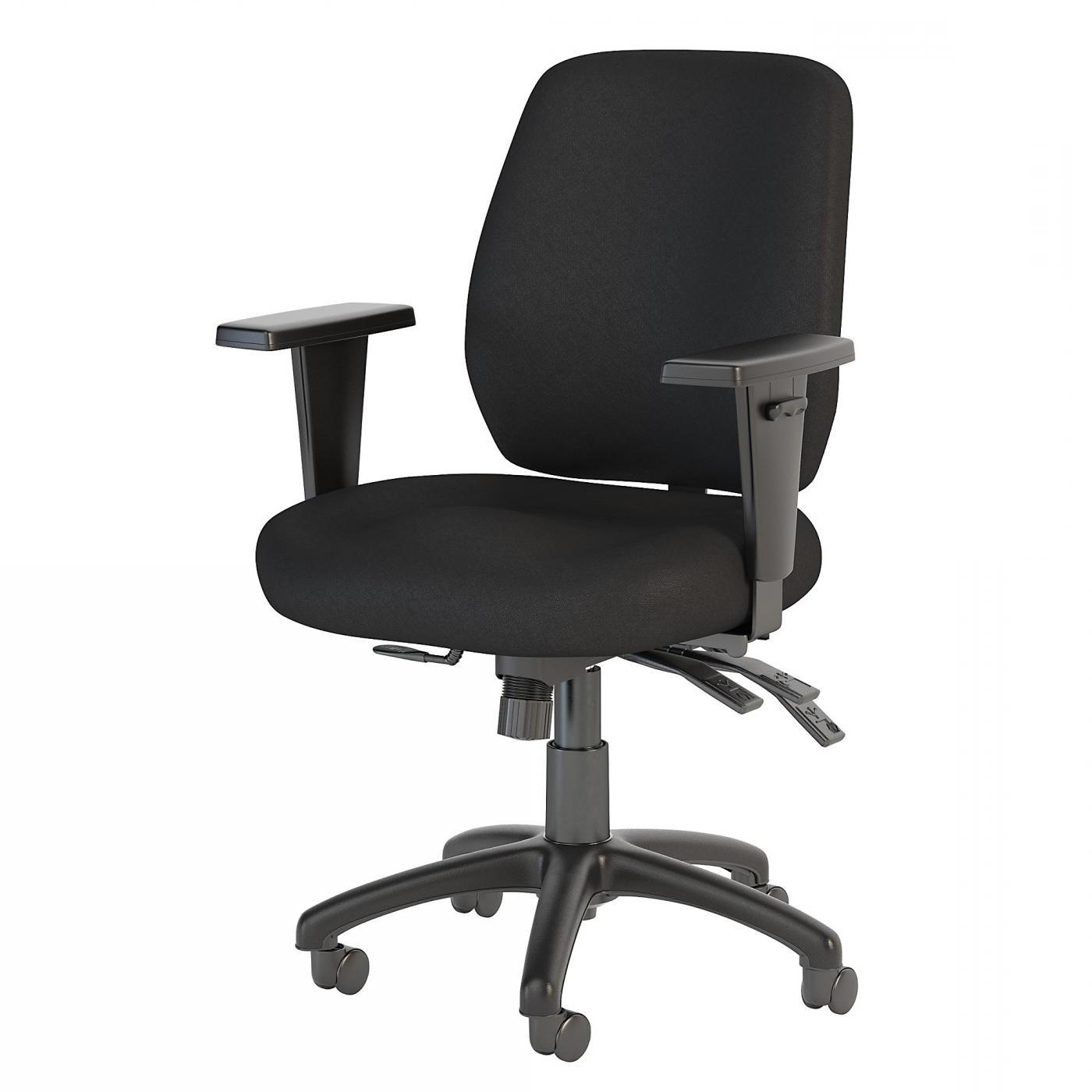 BUSH BUSINESS FURNITURE PROSPER MID BACK MULTIFUNCTION OFFICE CHAIR. FREE SHIPPING.  SALE DEDUCT 10% MORE ENTER '10percent' IN COUPON CODE BOX WHILE CHECKING OUT.