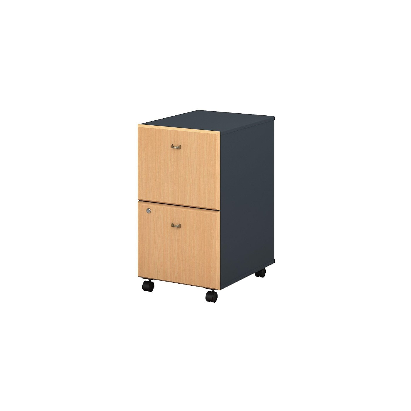 BUSH BUSINESS FURNITURE SERIES A 2 DRAWER MOBILE FILE CABINET. FREE SHIPPING.