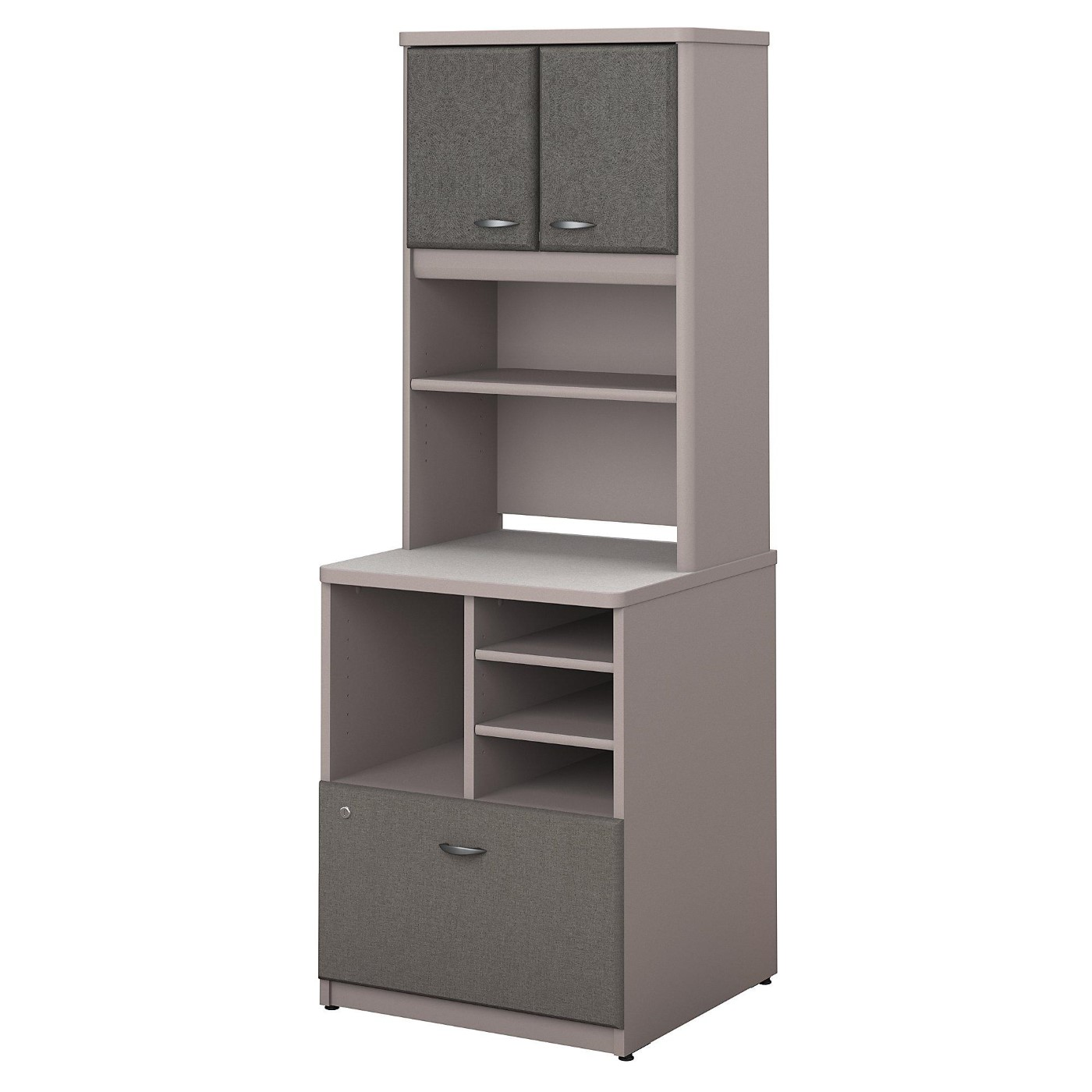 <font color=#c60><b>BUSH BUSINESS FURNITURE SERIES A 24W PILER FILER CABINET WITH HUTCH. FREE SHIPPING</font></b>