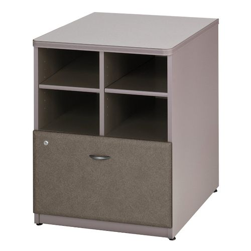 BUSH BUSINESS FURNITURE SERIES A 24W STORAGE CABINET. FREE SHIPPING  VIDEO BELOW. - <font color=red><b>OUT OF STOCK</b></font>