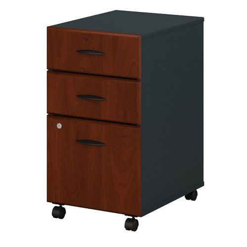 BUSH BUSINESS FURNITURE SERIES A 3 DRAWER MOBILE FILE CABINET. FREE SHIPPING. - <font color=red><b>OUT OF STOCK</b></font>