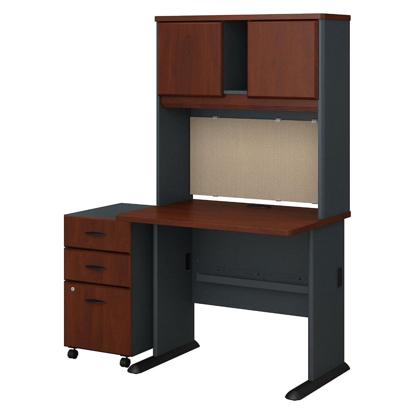 BUSH BUSINESS FURNITURE SERIES A 36W DESK WITH HUTCH AND MOBILE FILE CABINET. FREE SHIPPING</font></b></font>&#x1F384<font color=red><b>ERGONOMICHOME HOLIDAY SALE - ENDS DEC. 17, 2019</b></font>&#x1F384