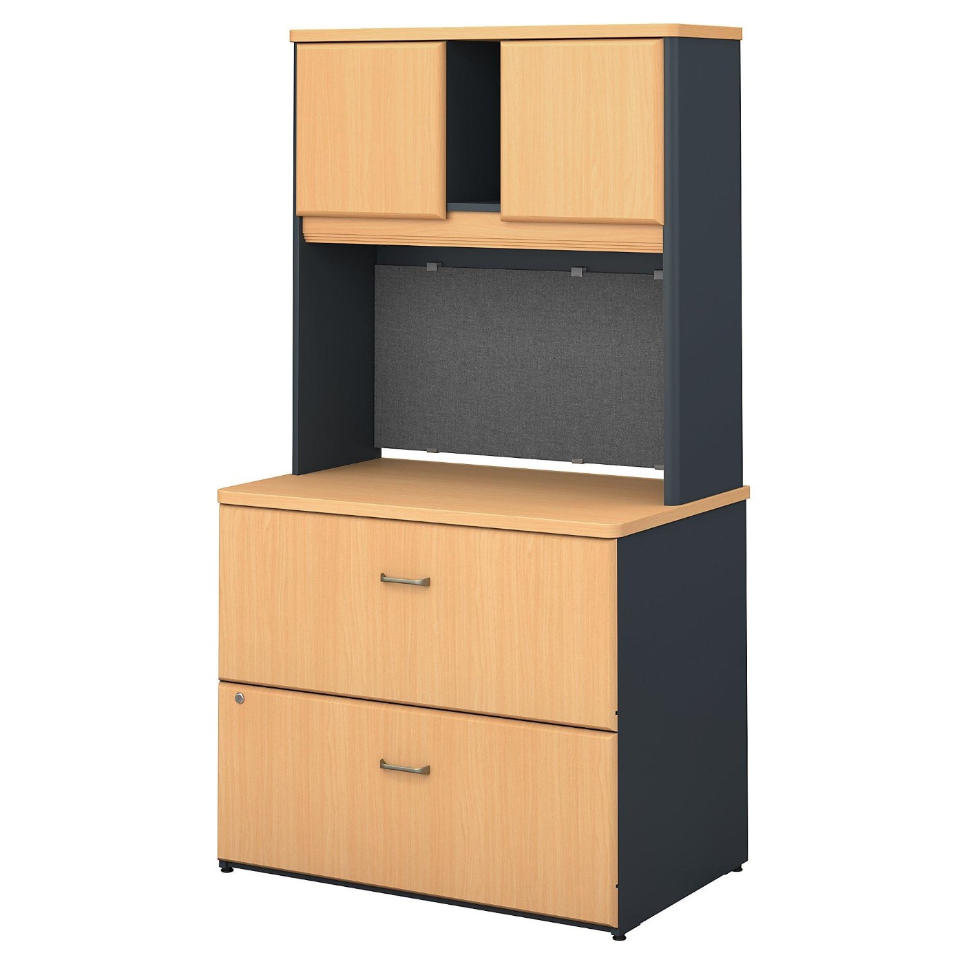<font color=#c60><b>BUSH BUSINESS FURNITURE SERIES A 36W LATERAL FILE CABINET WITH HUTCH. FREE SHIPPING:</font></b>