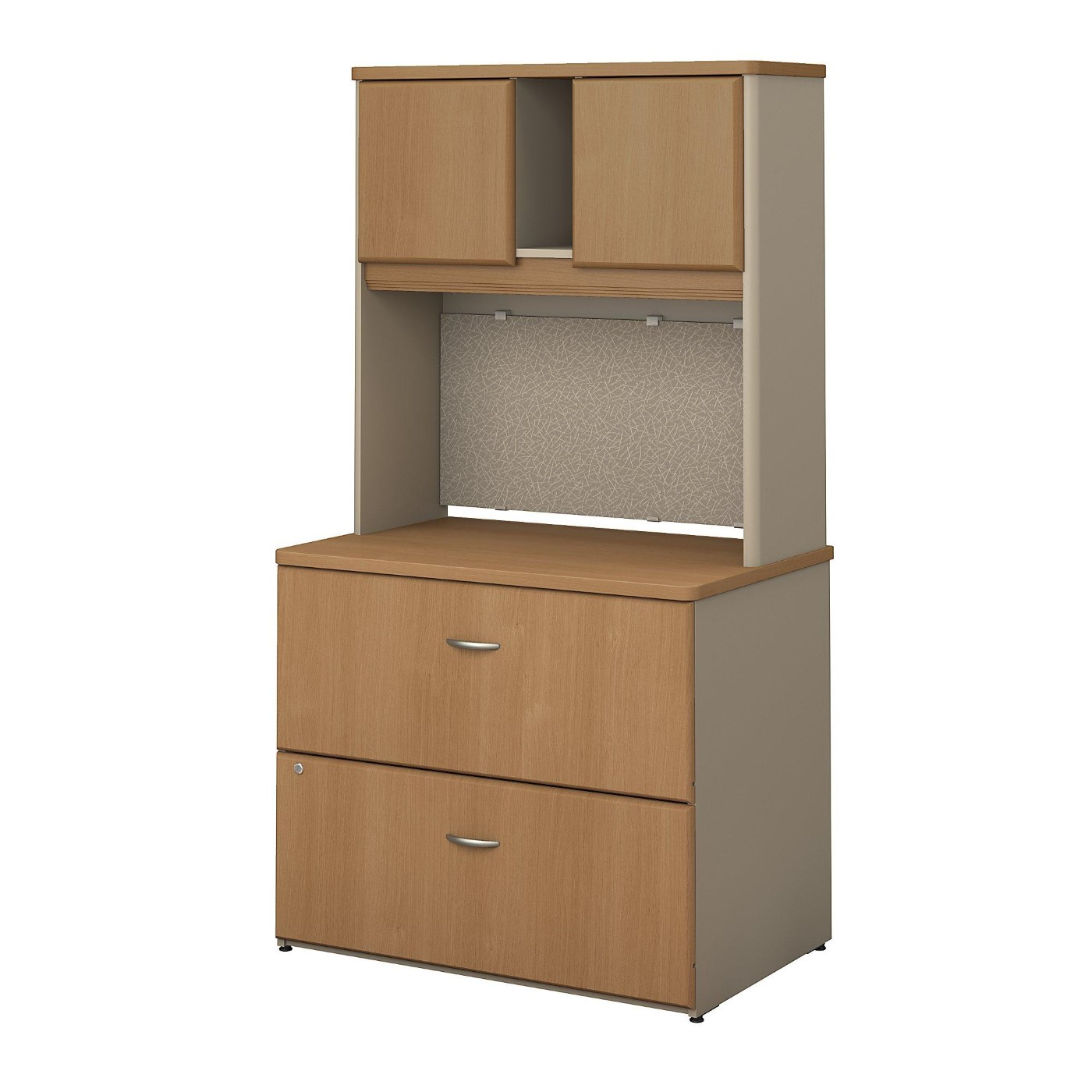 <font color=#c60><b>BUSH BUSINESS FURNITURE SERIES A 36W LATERAL FILE CABINET WITH HUTCH. FREE SHIPPING</font></b>