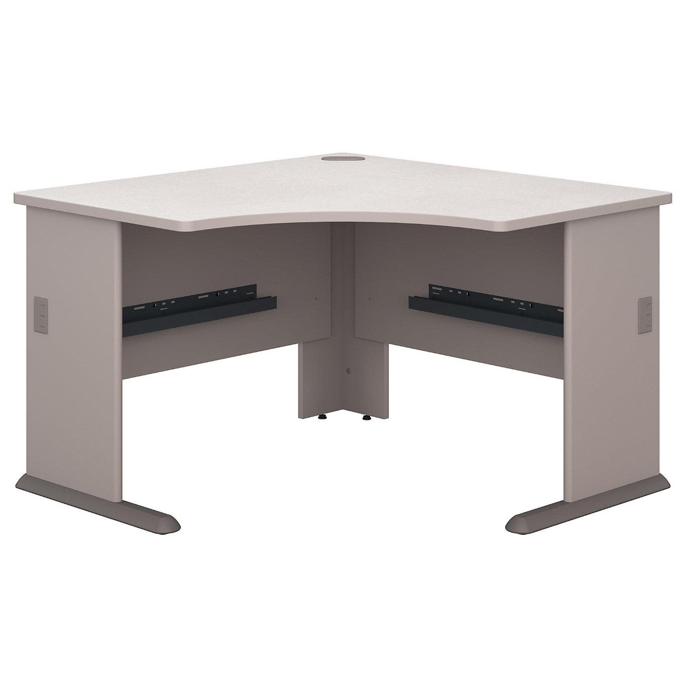 BUSH BUSINESS FURNITURE SERIES A 48W CORNER DESK. FREE SHIPPING  VIDEO BELOW.