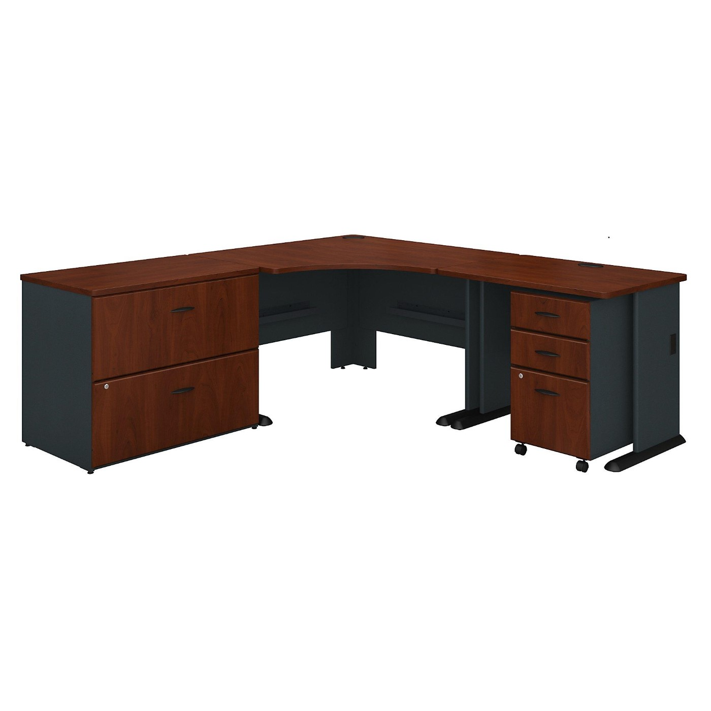 BUSH BUSINESS FURNITURE SERIES A 48W CORNER DESK WITH 36W RETURN AND FILE CABINETS. FREE SHIPPING</font></b></font>&#x1F384<font color=red><b>ERGONOMICHOME HOLIDAY SALE - ENDS DEC. 17, 2019</b></font>&#x1F384