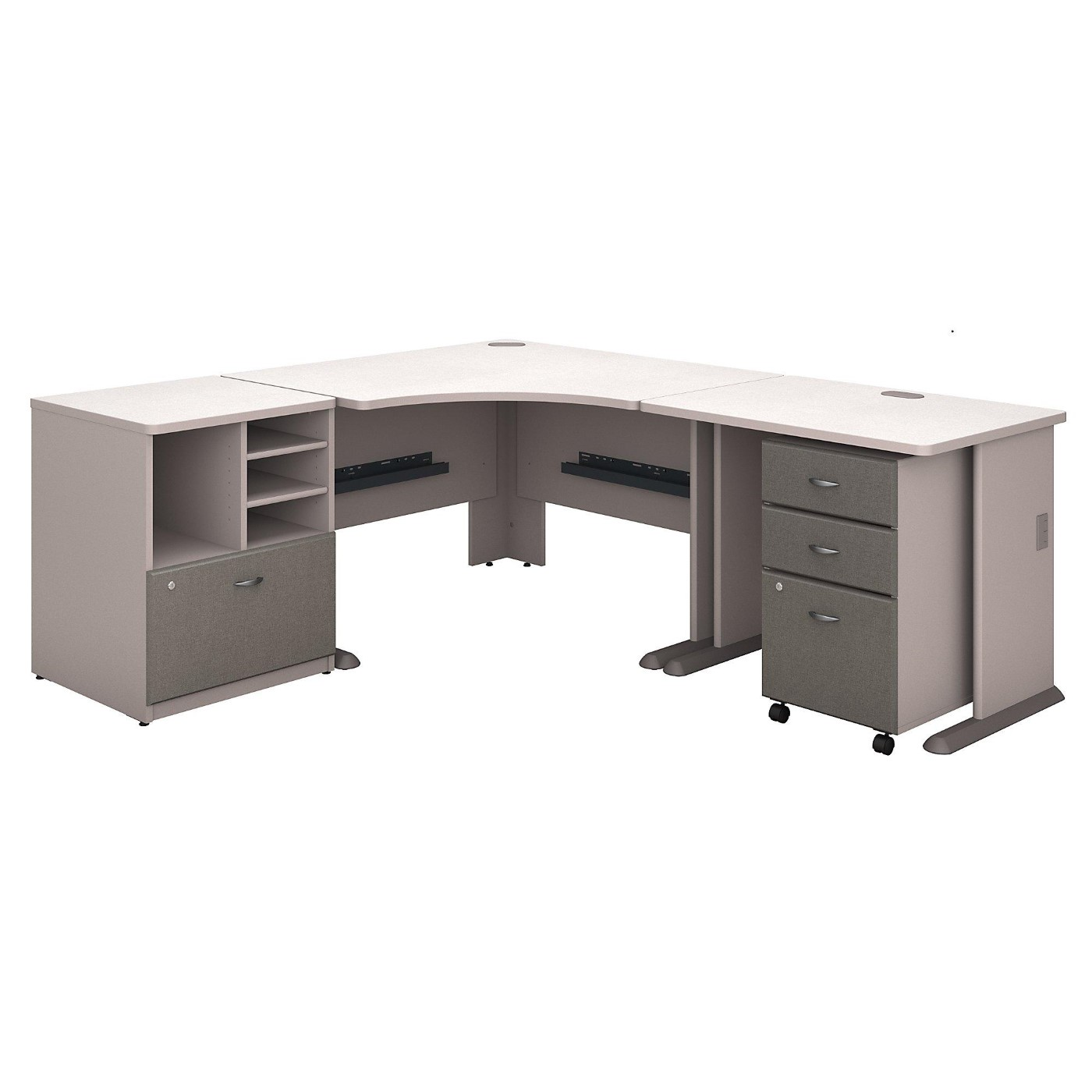 BUSH BUSINESS FURNITURE SERIES A 48W CORNER DESK WITH 36W RETURN AND STORAGE. FREE SHIPPING</font></b></font>&#x1F384<font color=red><b>ERGONOMICHOME HOLIDAY SALE - ENDS DEC. 17, 2019</b></font>&#x1F384