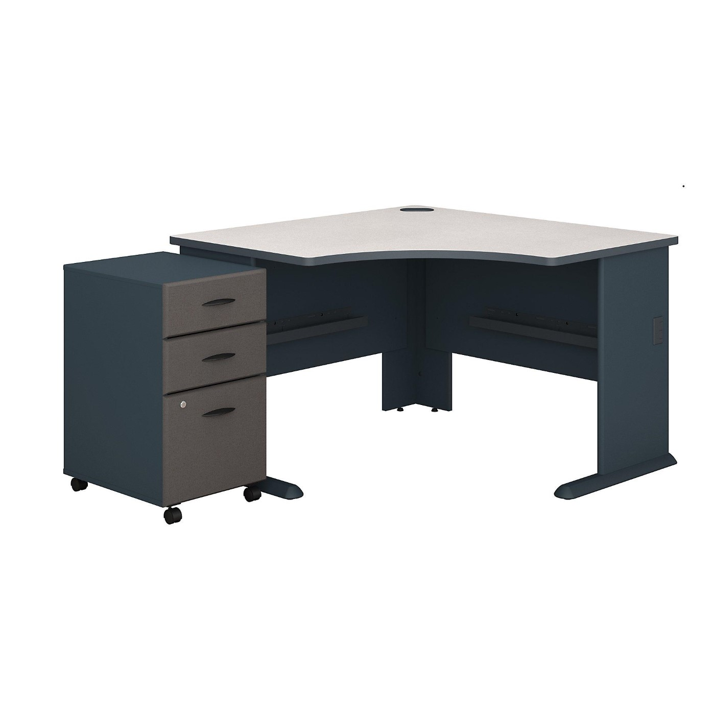 BUSH BUSINESS FURNITURE SERIES A 48W CORNER DESK WITH MOBILE FILE CABINET. FREE SHIPPING</font></b></font>&#x1F384<font color=red><b>ERGONOMICHOME HOLIDAY SALE - ENDS DEC. 17, 2019</b></font>&#x1F384