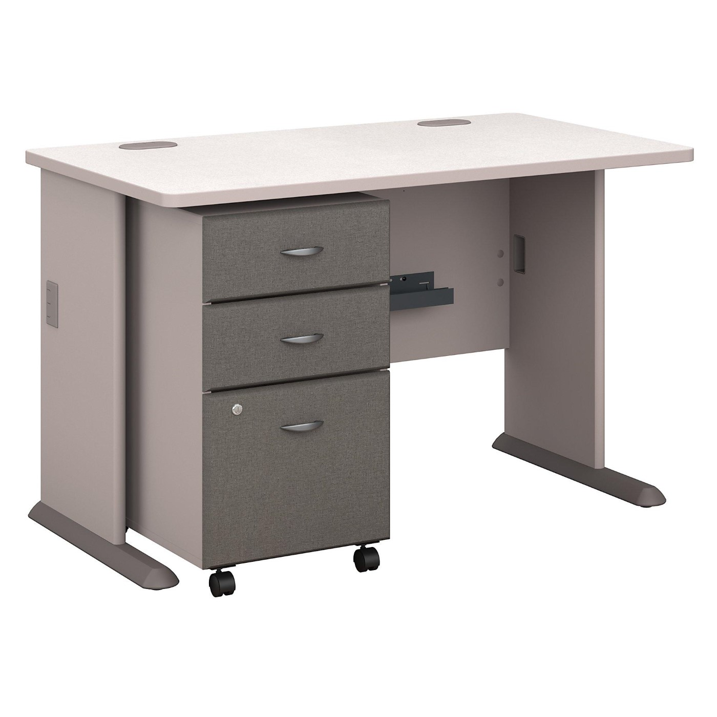 <font color=#c60><b>BUSH BUSINESS FURNITURE SERIES A 48W DESK WITH MOBILE FILE CABINET. FREE SHIPPING</font></b>