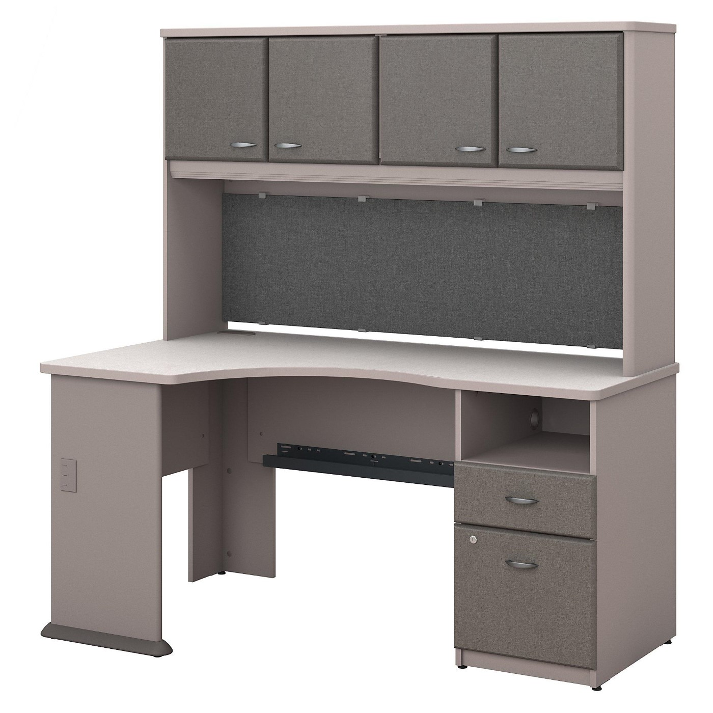 BUSH BUSINESS FURNITURE SERIES A 60W CORNER DESK WITH HUTCH AND 2 DRAWER PEDESTAL. FREE SHIPPING</font></b></font>&#x1F384<font color=red><b>ERGONOMICHOME HOLIDAY SALE - ENDS DEC. 17, 2019</b></font>&#x1F384