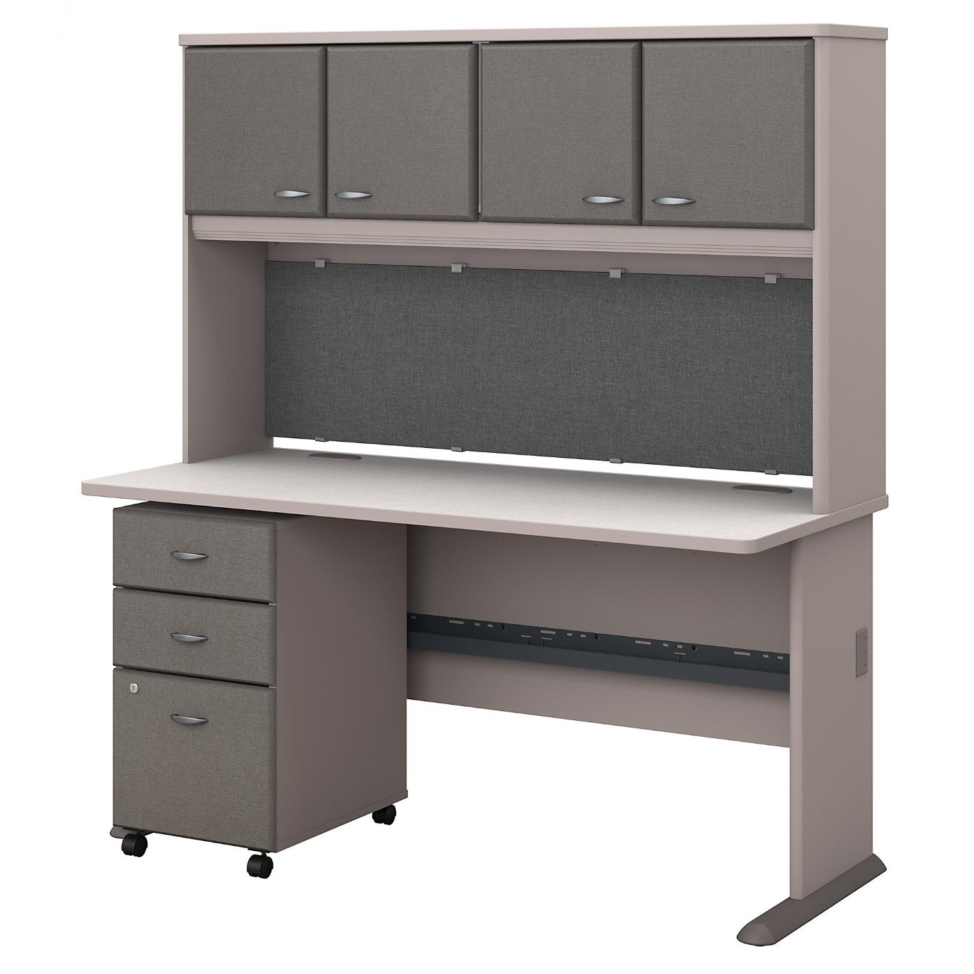BUSH BUSINESS FURNITURE SERIES A 60W DESK WITH HUTCH AND MOBILE FILE CABINET. FREE SHIPPING</font></b></font>&#x1F384<font color=red><b>ERGONOMICHOME HOLIDAY SALE - ENDS DEC. 17, 2019</b></font>&#x1F384
