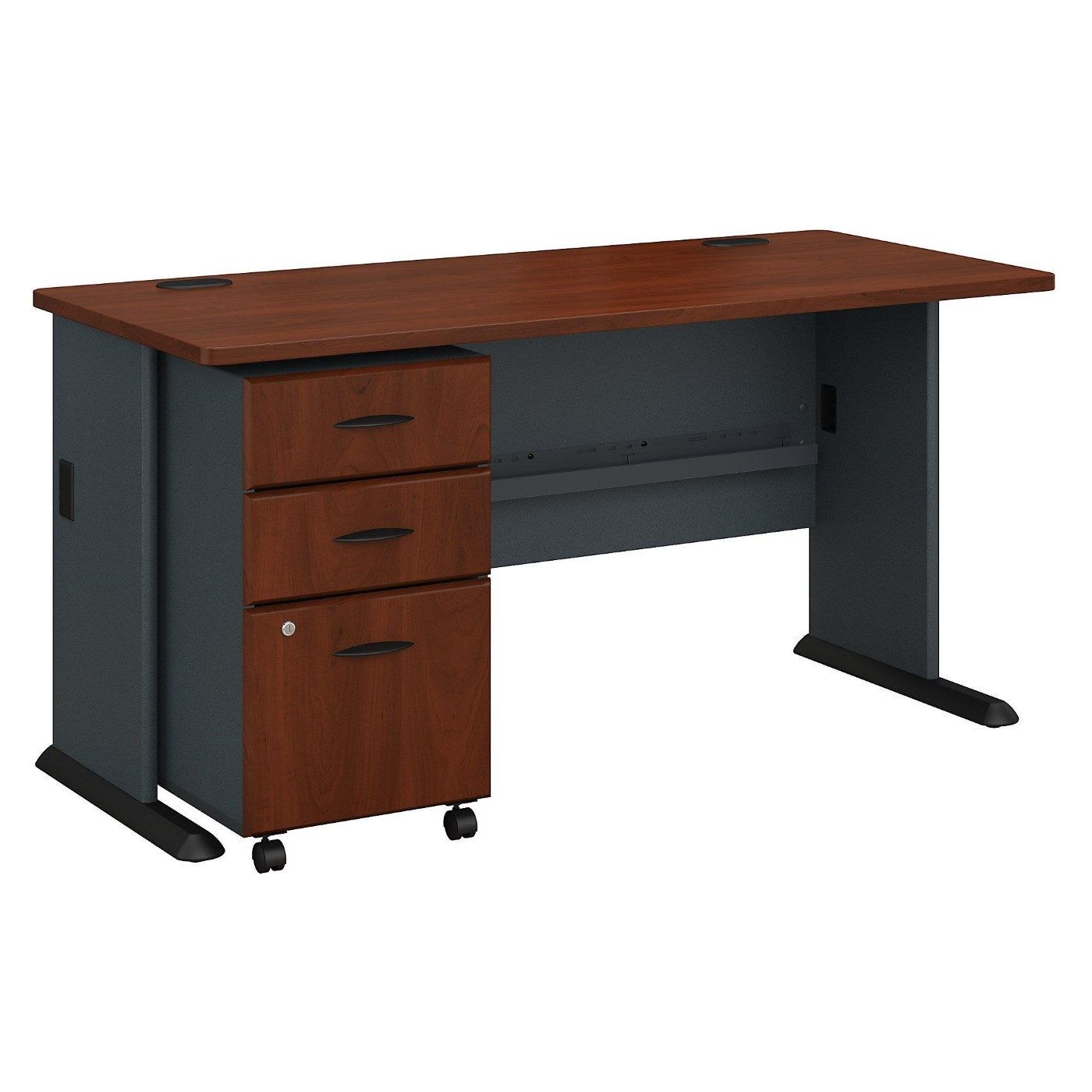 BUSH BUSINESS FURNITURE SERIES A 60W DESK WITH MOBILE FILE CABINET. FREE SHIPPING</font></b></font>&#x1F384<font color=red><b>ERGONOMICHOME HOLIDAY SALE - ENDS DEC. 17, 2019</b></font>&#x1F384
