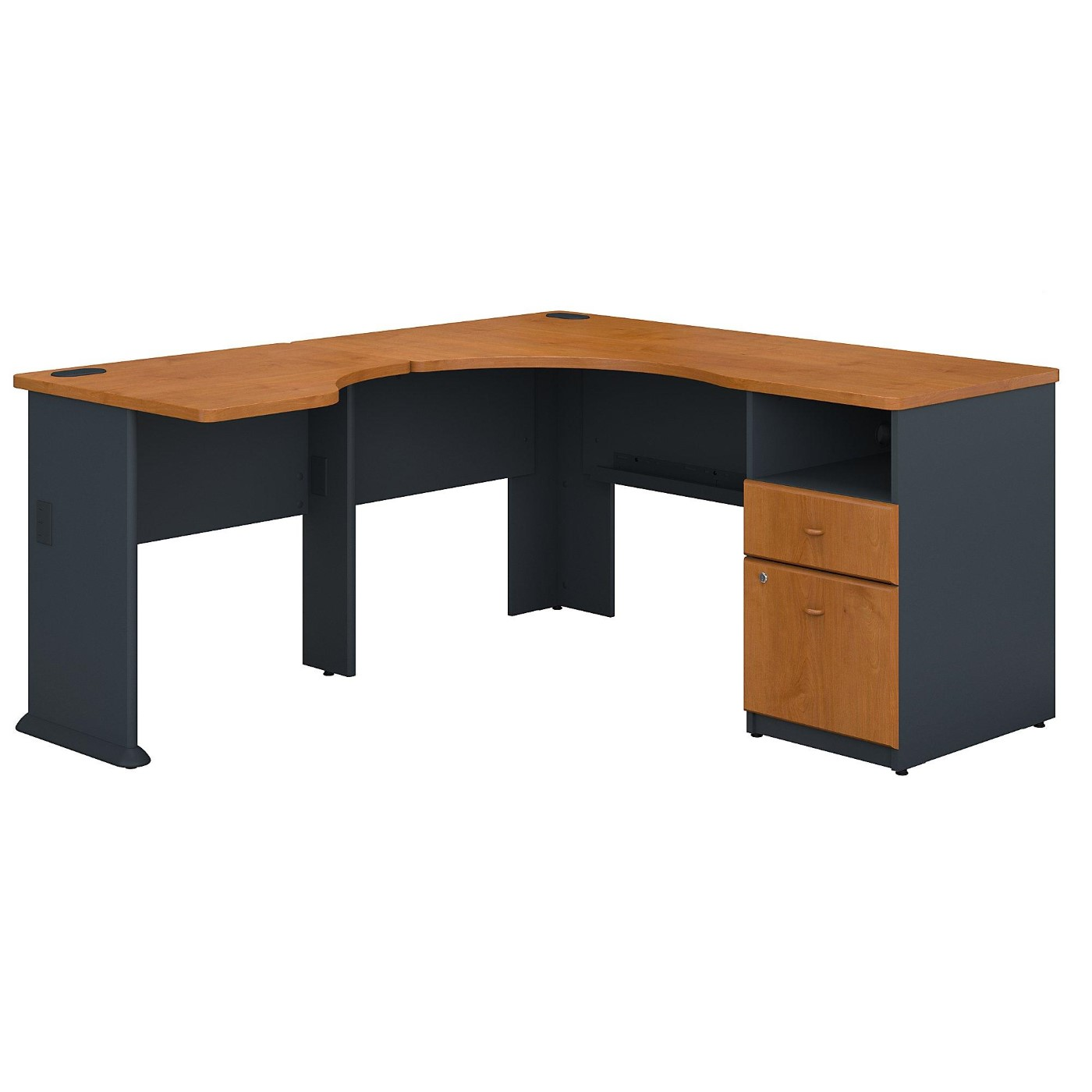 BUSH BUSINESS FURNITURE SERIES A 60W L SHAPED CORNER DESK WITH 2 DRAWER PEDESTAL AND 30W BRIDGE. FREE SHIPPING</font></b></font>&#x1F384<font color=red><b>ERGONOMICHOME HOLIDAY SALE - ENDS DEC. 17, 2019</b></font>&#x1F384