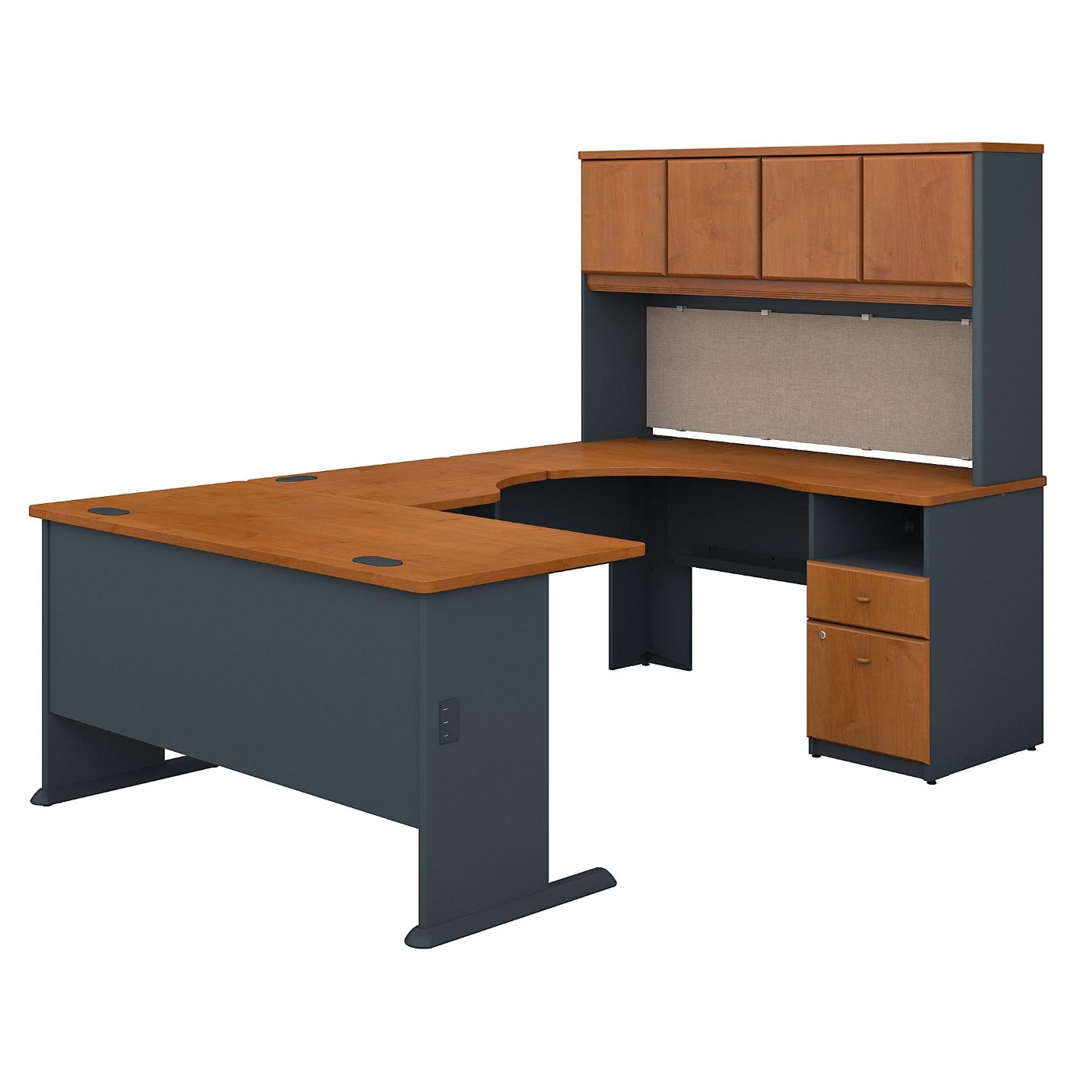 BUSH BUSINESS FURNITURE SERIES A 60W U SHAPED DESK WITH HUTCH AND 2 DRAWER PEDESTAL. FREE SHIPPING</font></b></font>&#x1F384<font color=red><b>ERGONOMICHOME HOLIDAY SALE - ENDS DEC. 17, 2019</b></font>&#x1F384