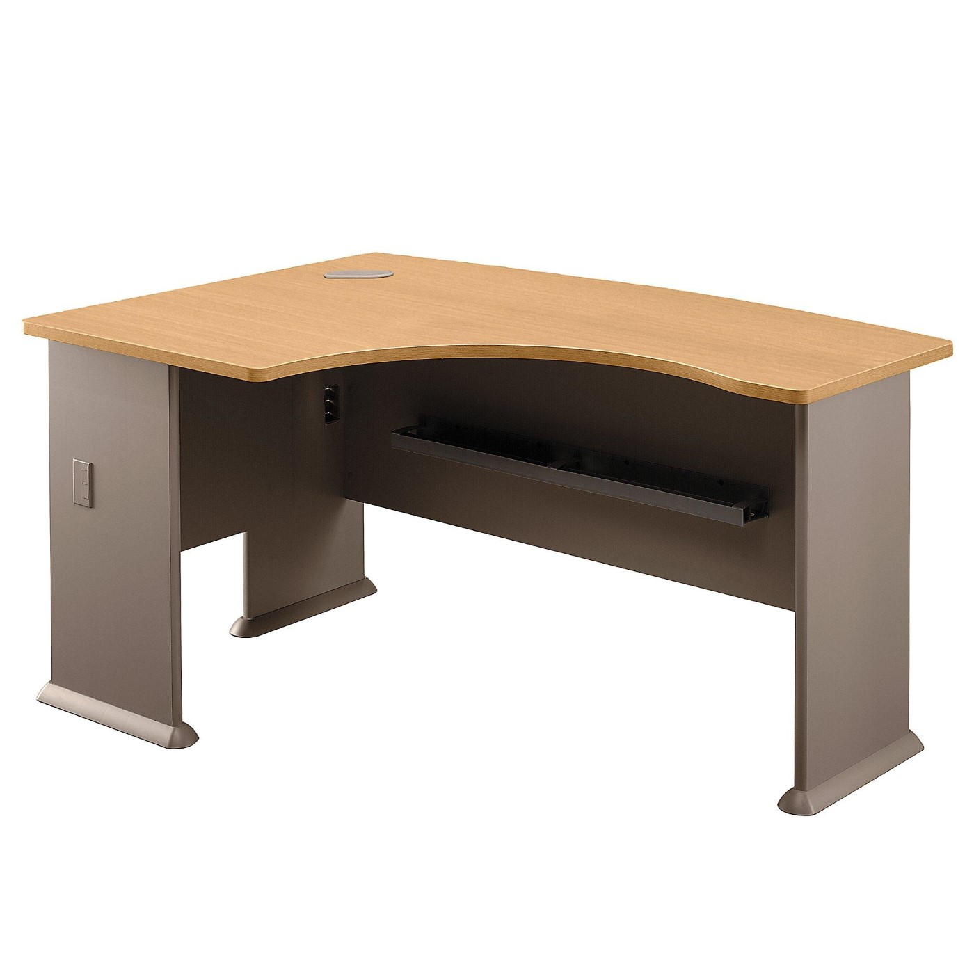 <font color=#c60><b>BUSH BUSINESS FURNITURE SERIES A 60W X 44D RIGHT HANDED L BOW DESK. FREE SHIPPING</font></b>