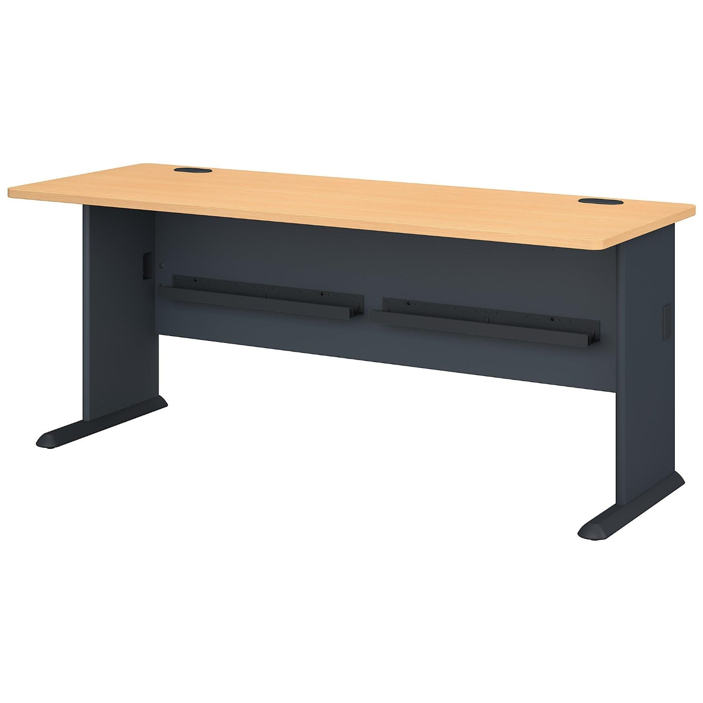 BUSH BUSINESS FURNITURE SERIES A 72W DESK. FREE SHIPPING  VIDEO BELOW.