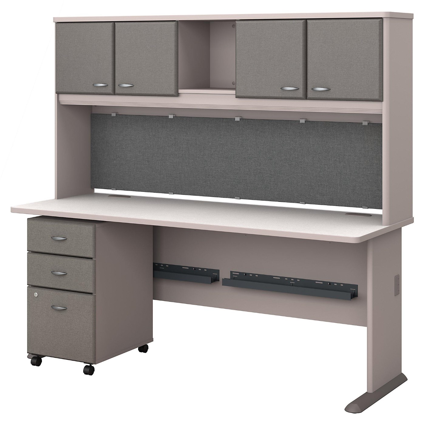 BUSH BUSINESS FURNITURE SERIES A 72W DESK WITH HUTCH AND MOBILE FILE CABINET. FREE SHIPPING</font></b></font>&#x1F384<font color=red><b>ERGONOMICHOME HOLIDAY SALE - ENDS DEC. 17, 2019</b></font>&#x1F384