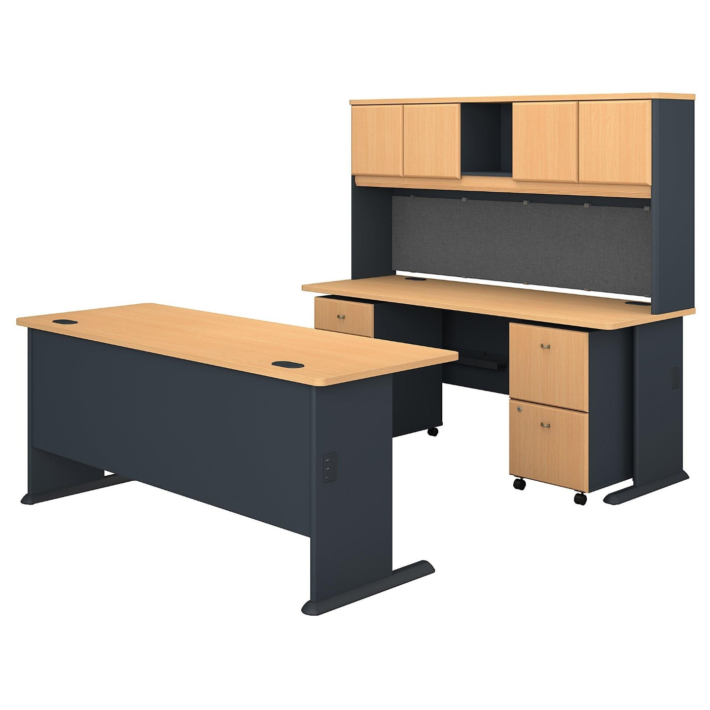 BUSH BUSINESS FURNITURE SERIES A 72W DESKS WITH HUTCH AND MOBILE FILE CABINETS. FREE SHIPPING</font></b></font>&#x1F384<font color=red><b>ERGONOMICHOME HOLIDAY SALE - ENDS DEC. 17, 2019</b></font>&#x1F384