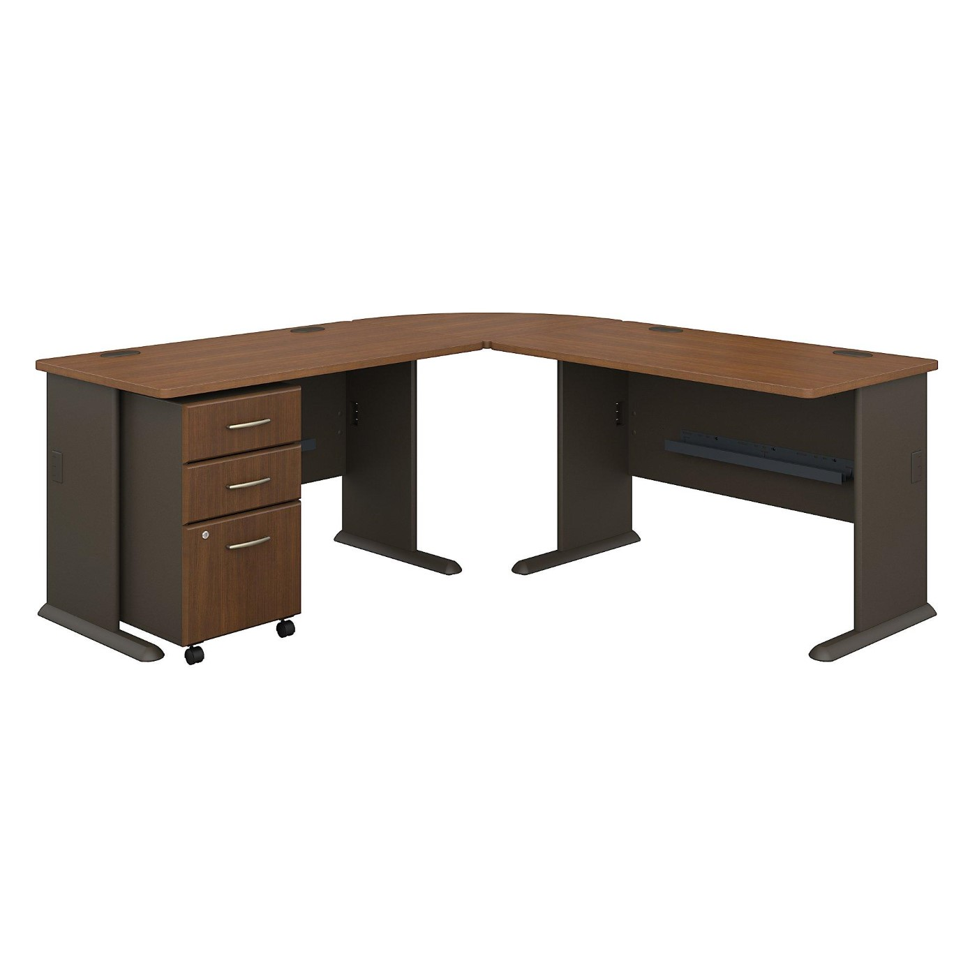 <font color=#c60><b>BUSH BUSINESS FURNITURE SERIES A 75W X 75D L SHAPED DESK WITH MOBILE FILE CABINET. FREE SHIPPING</font></b>