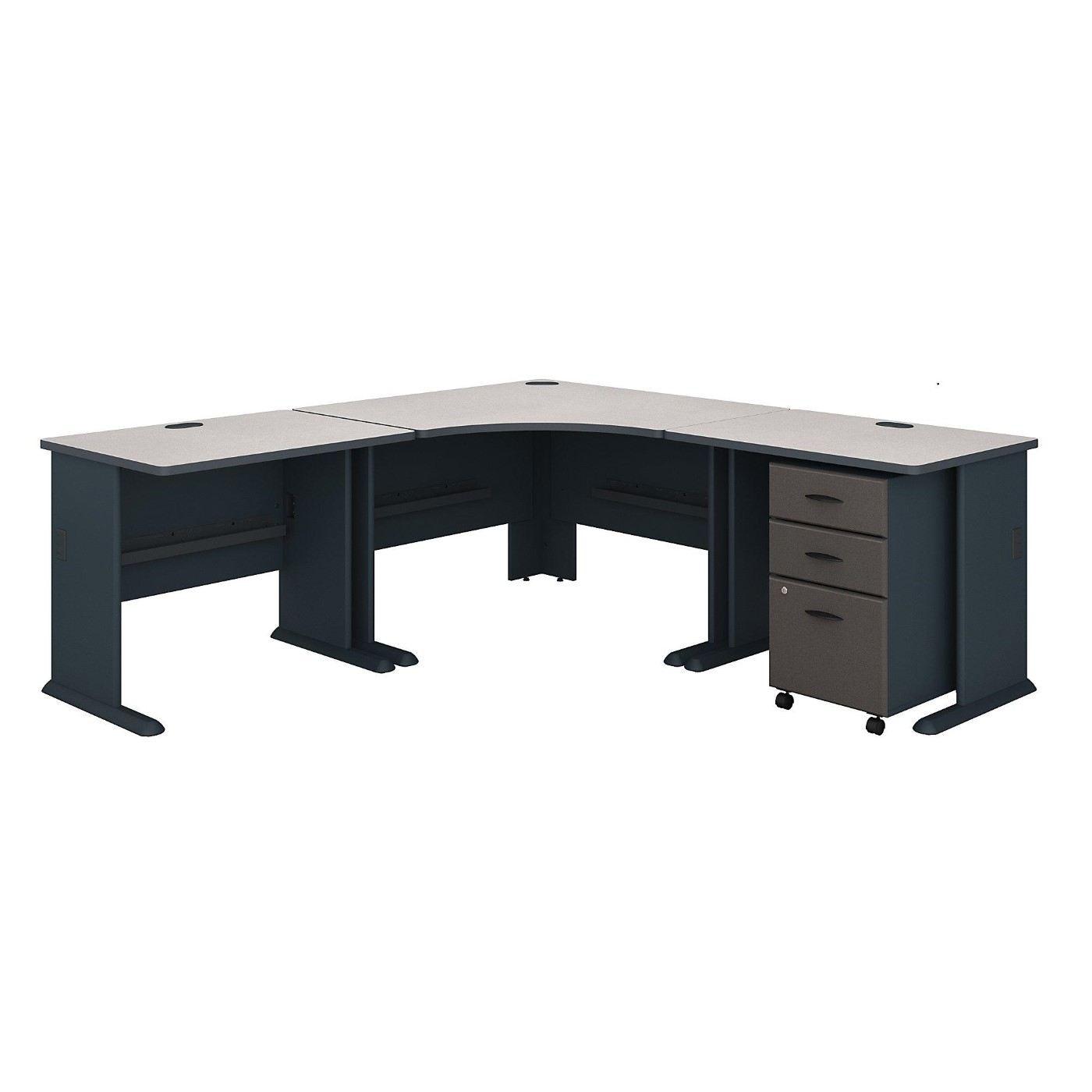 BUSH BUSINESS FURNITURE SERIES A 84W X 84D CORNER DESK WITH MOBILE FILE CABINET. FREE SHIPPING</font></b></font></b>&#x1F384<font color=red><b>ERGONOMICHOME HOLIDAY SALE - ENDS DEC. 17, 2019</b></font>&#x1F384