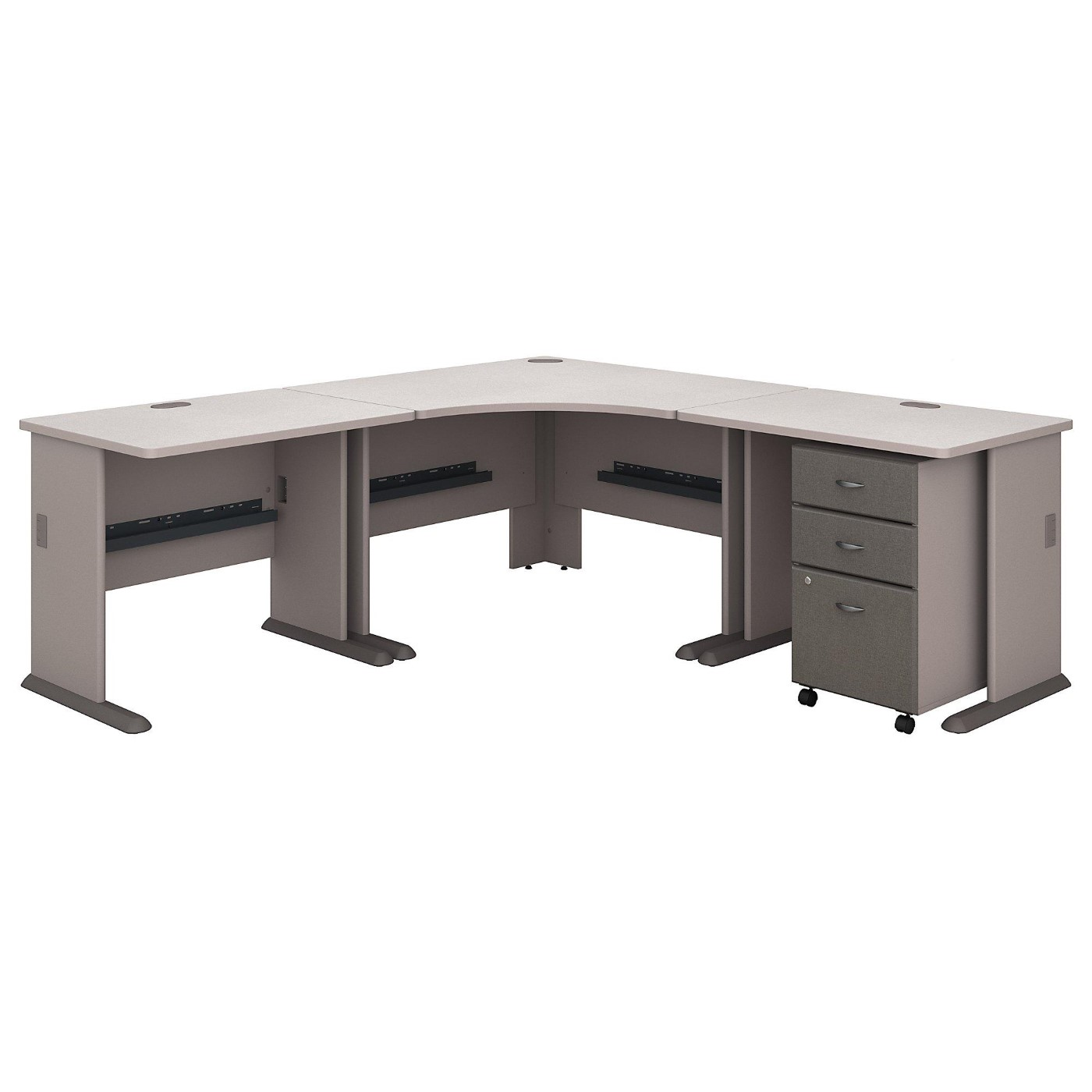 BUSH BUSINESS FURNITURE SERIES A 84W X 84D CORNER DESK WITH MOBILE FILE CABINET. FREE SHIPPING</font></b></font>&#x1F384<font color=red><b>ERGONOMICHOME HOLIDAY SALE - ENDS DEC. 17, 2019</b></font>&#x1F384
