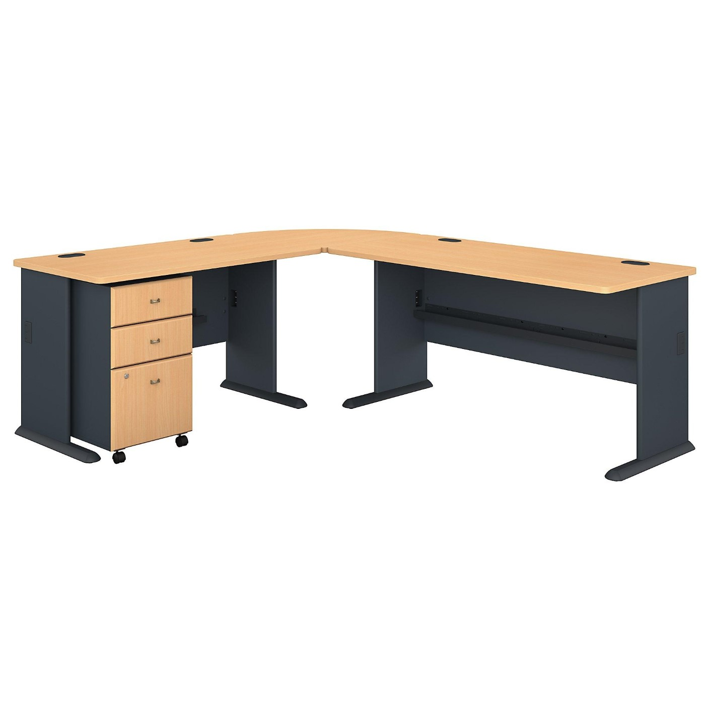 BUSH BUSINESS FURNITURE SERIES A 87W X 75D L SHAPED DESK WITH MOBILE FILE CABINET. FREE SHIPPING</font></b></font>&#x1F384<font color=red><b>ERGONOMICHOME HOLIDAY SALE - ENDS DEC. 17, 2019</b></font>&#x1F384