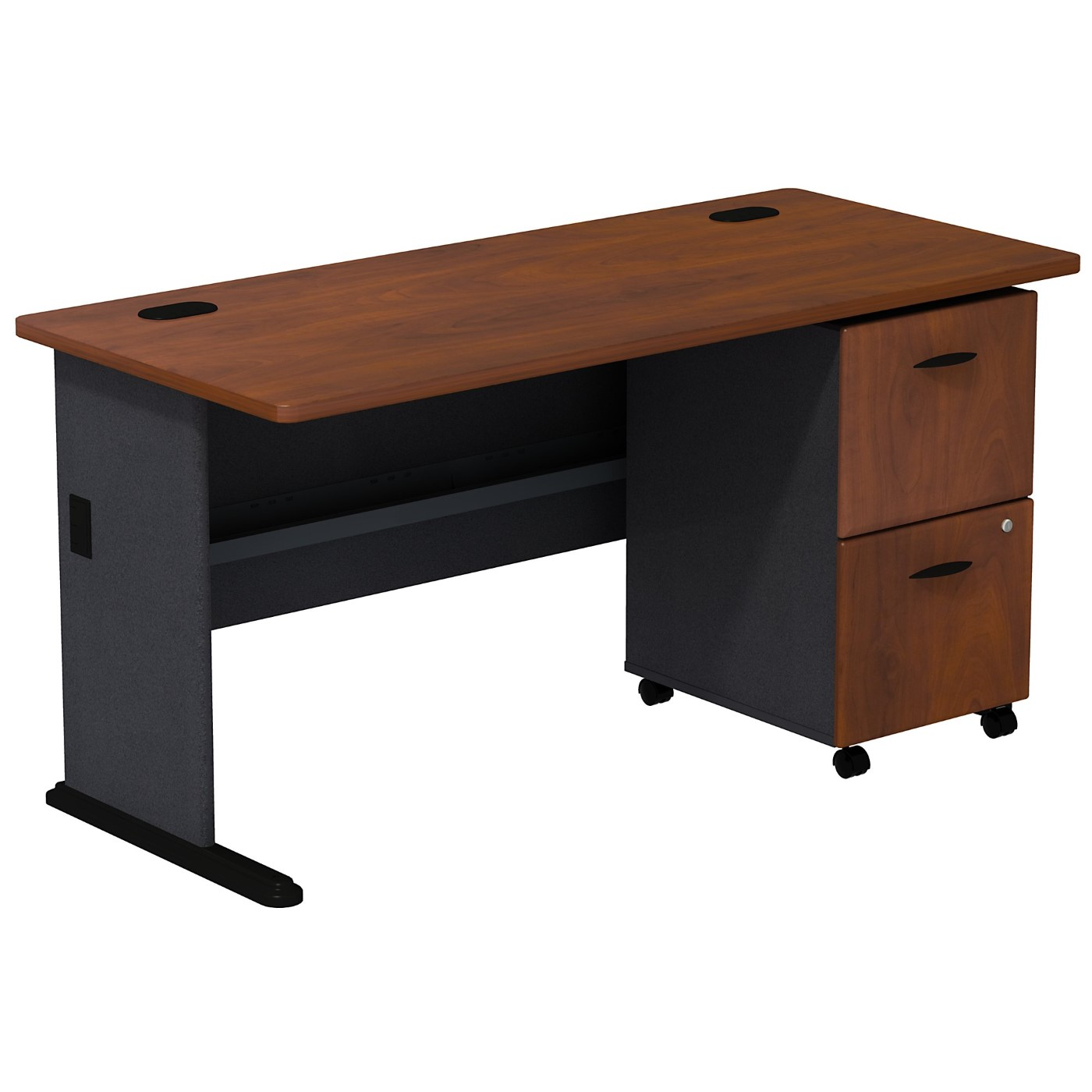 BUSH BUSINESS FURNITURE SERIES A DESK WITH 2 DRAWER MOBILE PEDESTAL. FREE SHIPPING