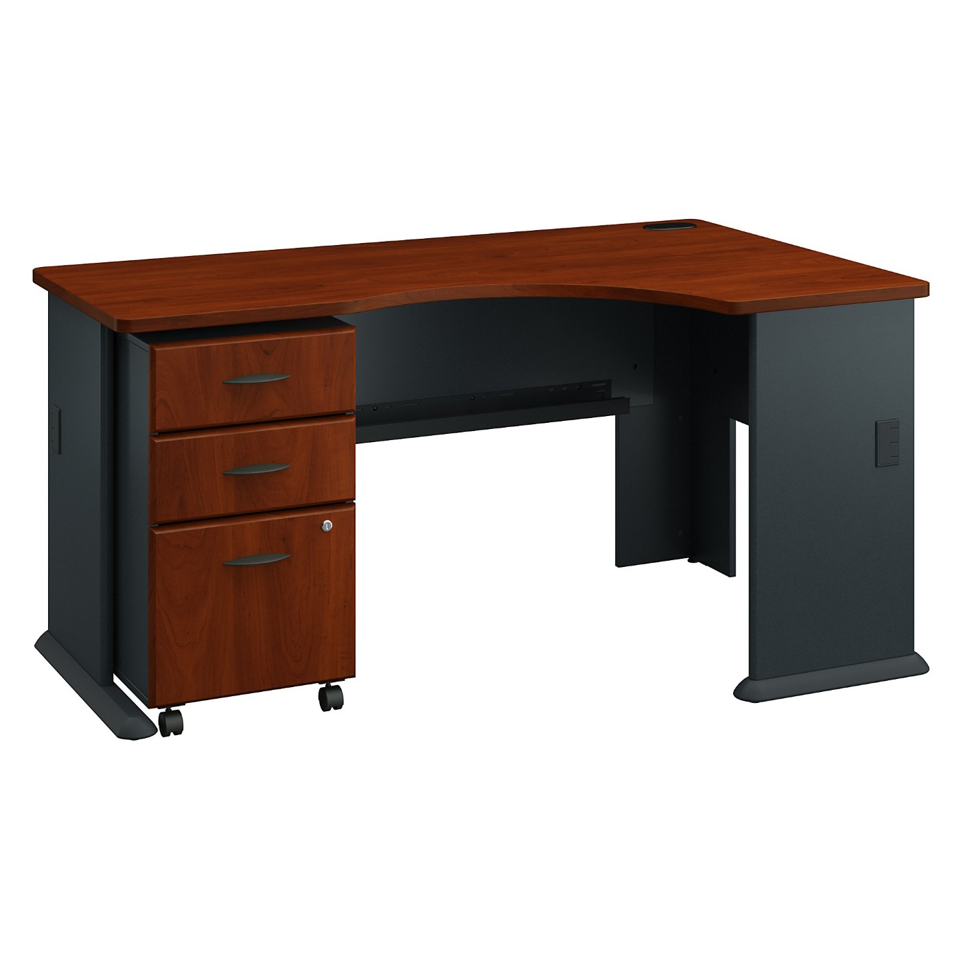 BUSH BUSINESS FURNITURE SERIES A RIGHT CORNER DESK WITH MOBILE FILE CABINET. FREE SHIPPING